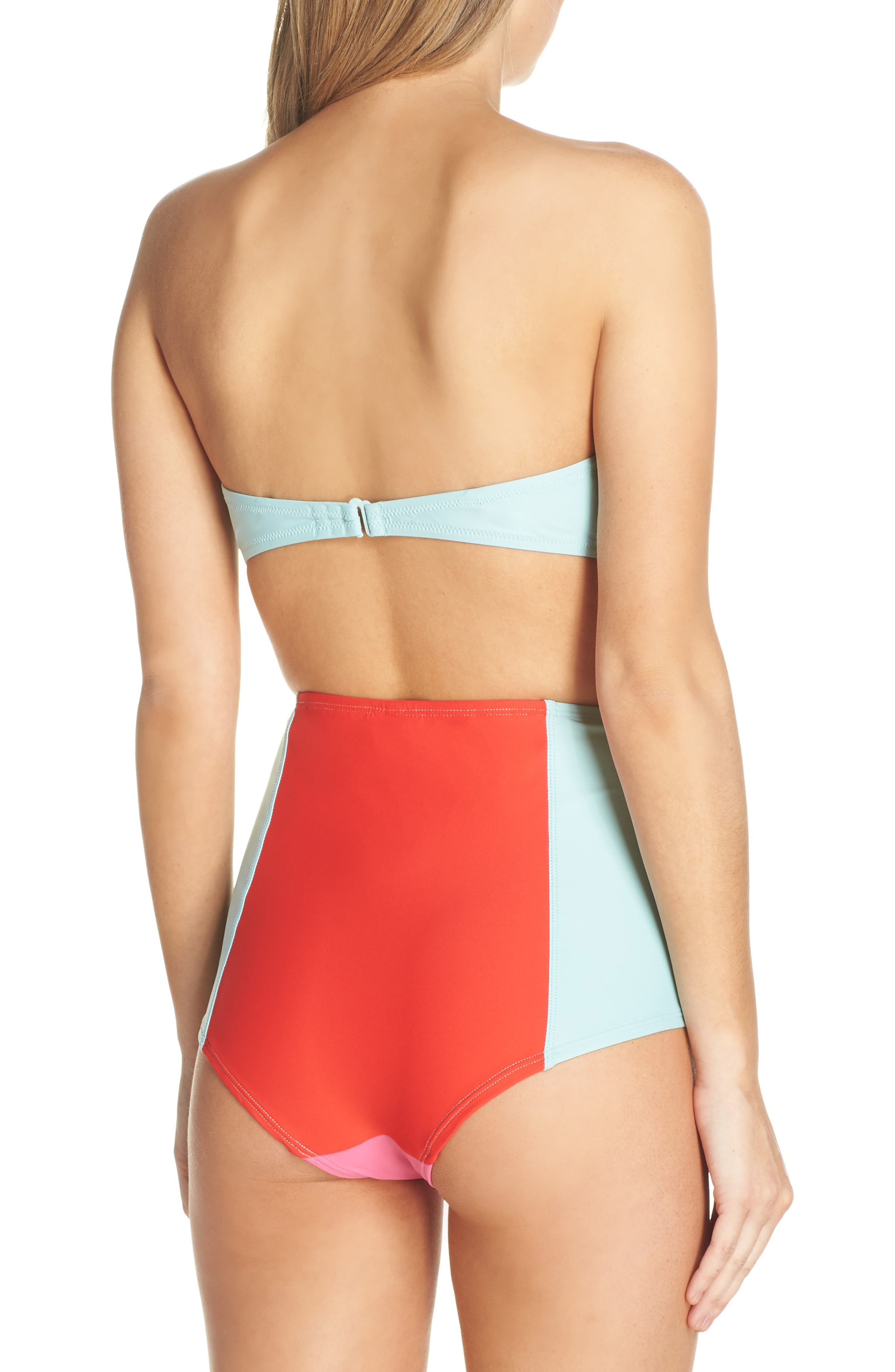 Colorblock Underwire Bikini Top,                             Alternate thumbnail 9, color,                             MINT CERISE PINK