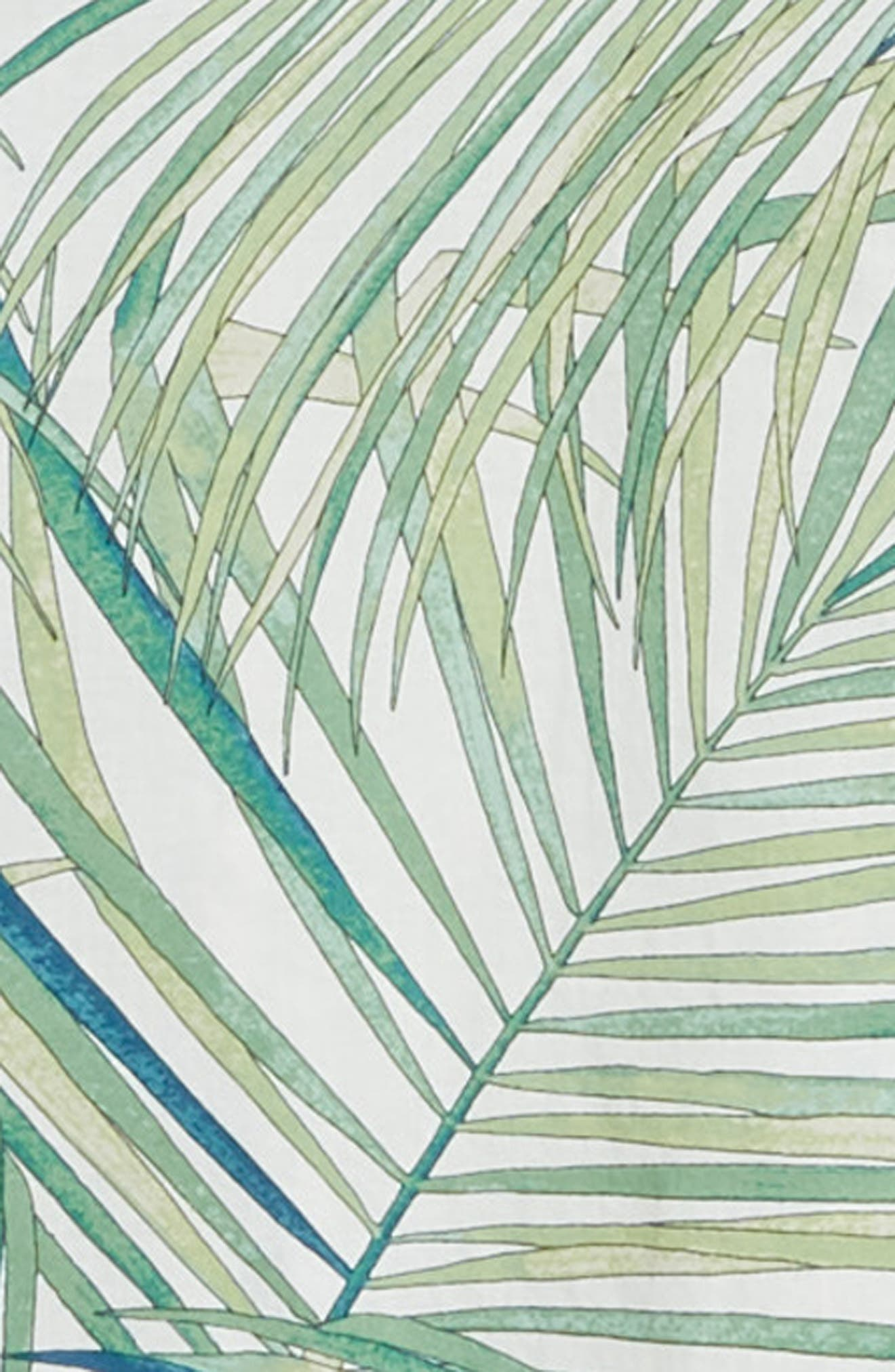 Kentia Trim Fit Palm Print Sport Shirt,                             Alternate thumbnail 7, color,                             100
