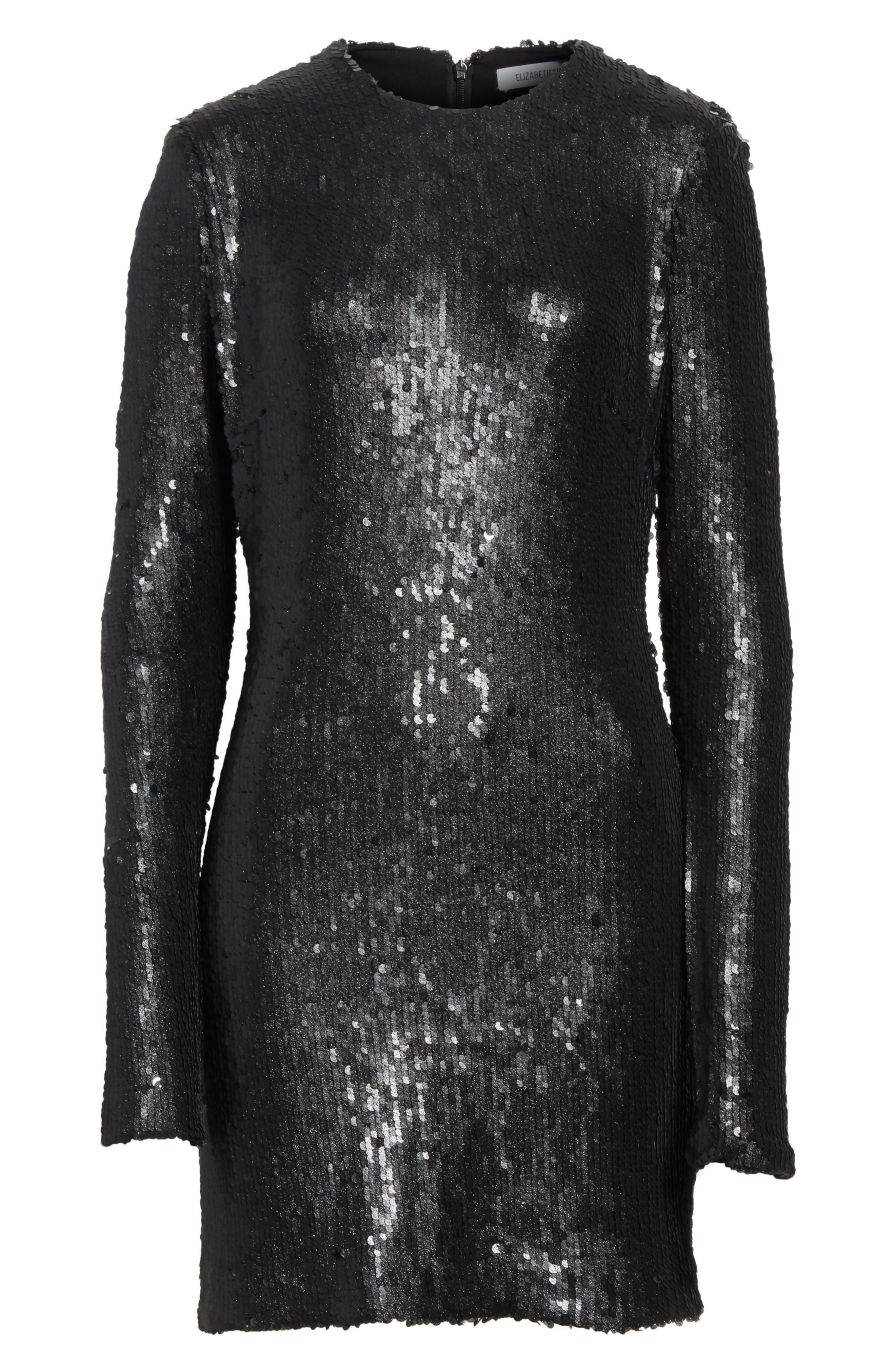 Nevin Sequin Minidress,                             Alternate thumbnail 6, color,                             001