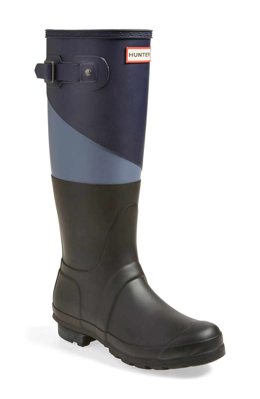 'Original - Asymmetric Colorblock' Waterproof Rain Boot,                         Main,                         color,
