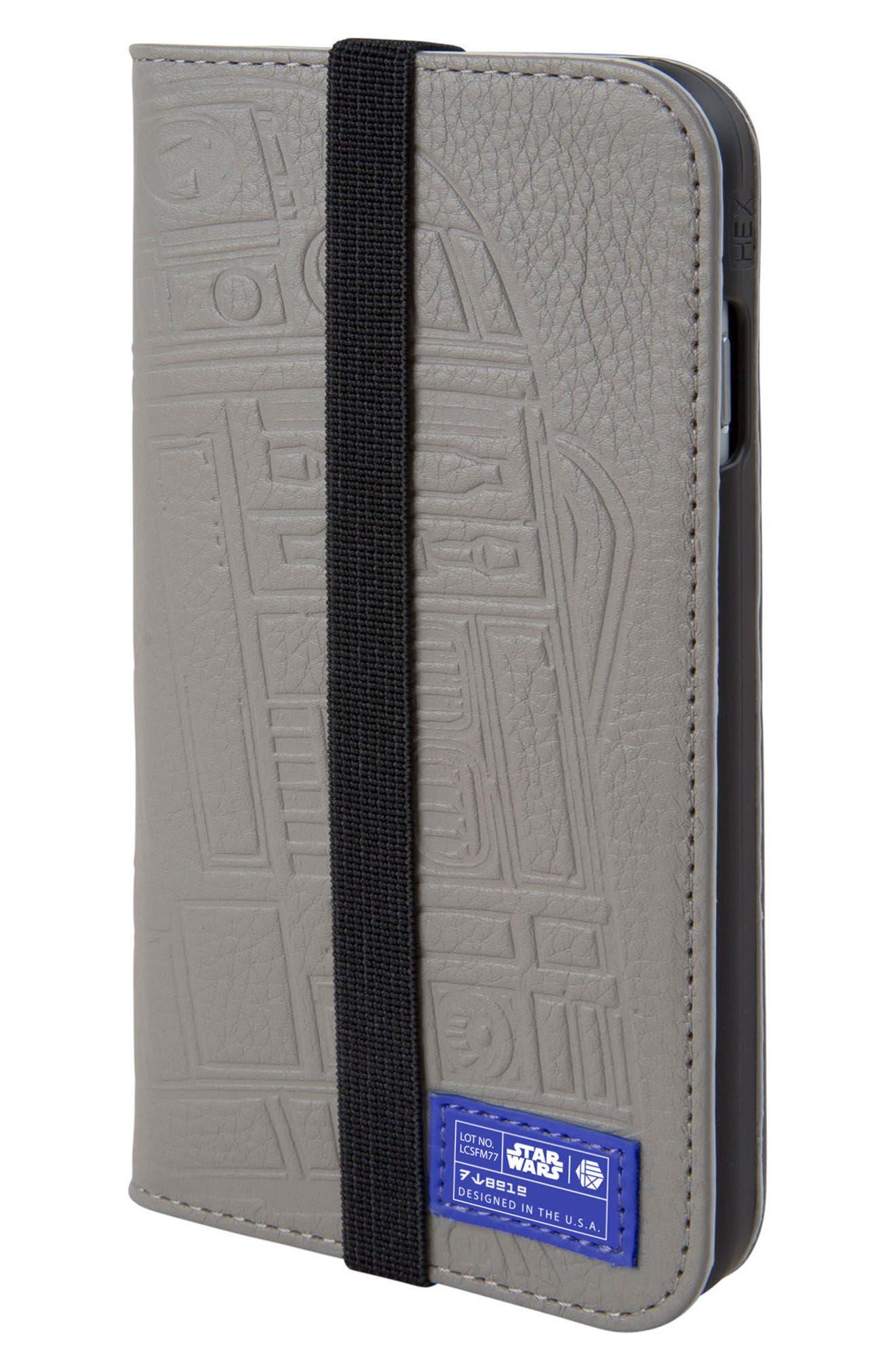 HEX,                             R2-D2 iPhone 6/6s/7/8 Wallet Case,                             Main thumbnail 1, color,                             036