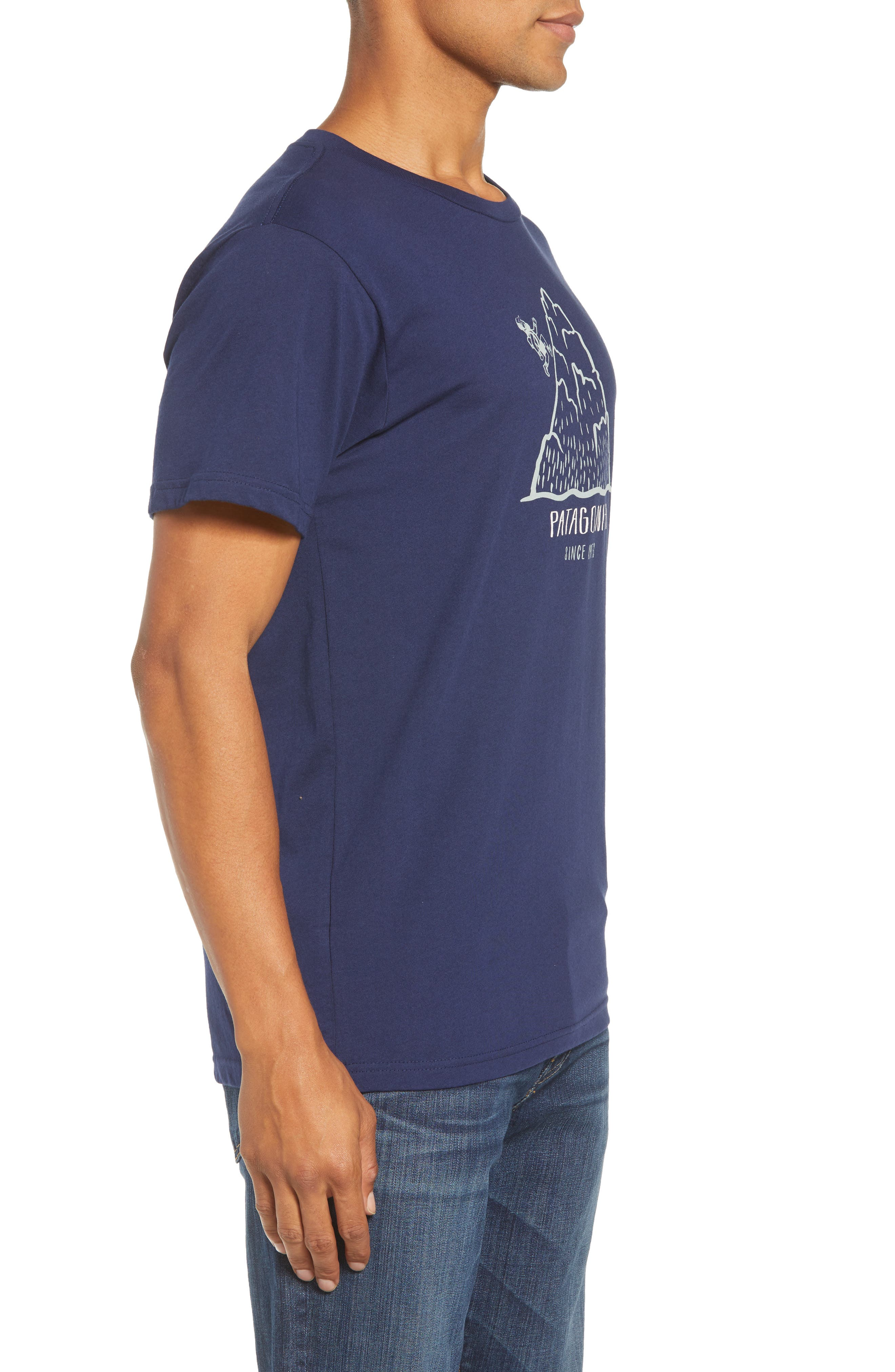 Hoofin It Organic Cotton Graphic T-Shirt,                             Alternate thumbnail 3, color,                             CLASSIC NAVY