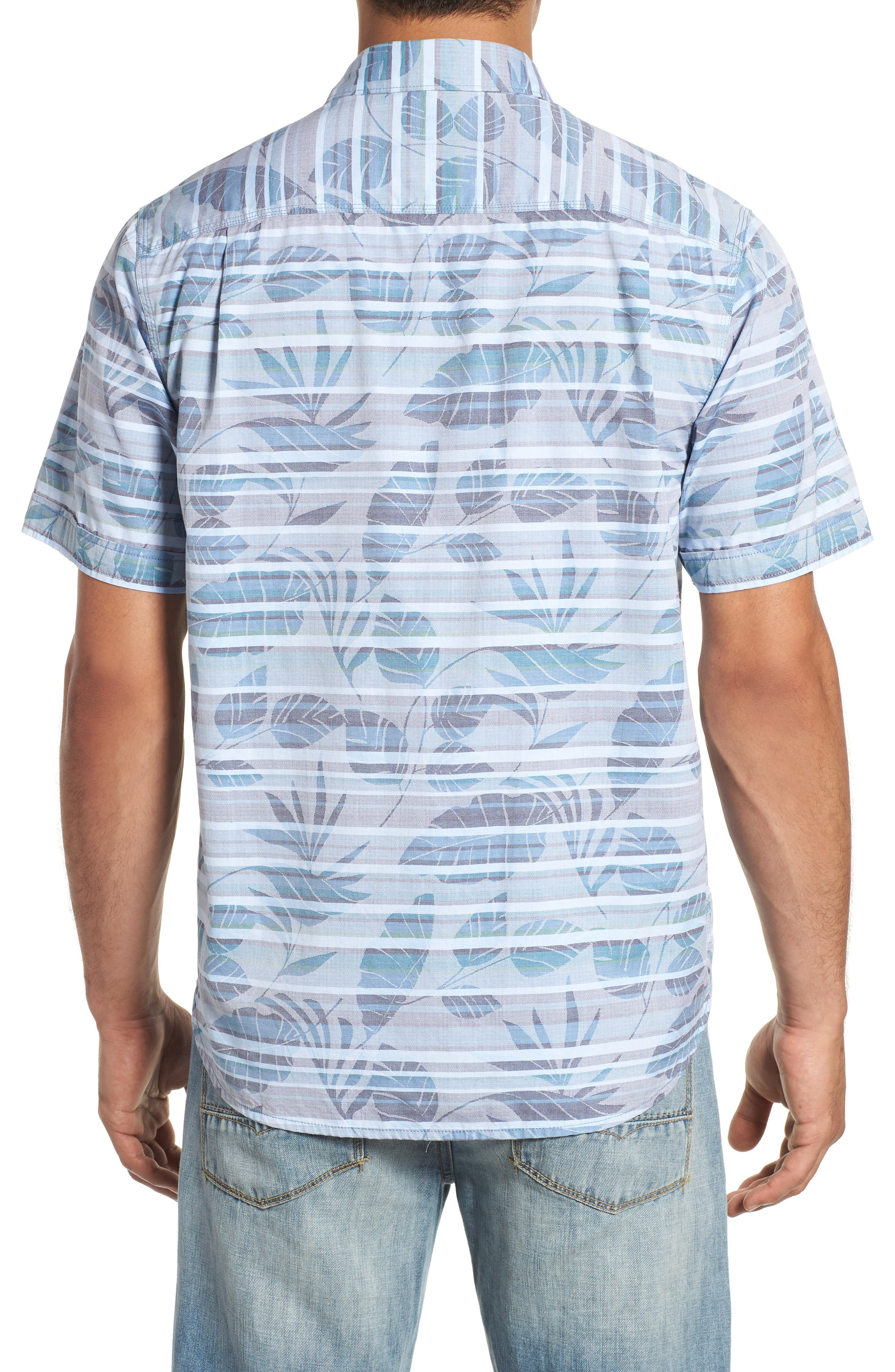 Playa of Paradise Regular Fit Camp Shirt,                             Alternate thumbnail 3, color,                             SEAGROVE
