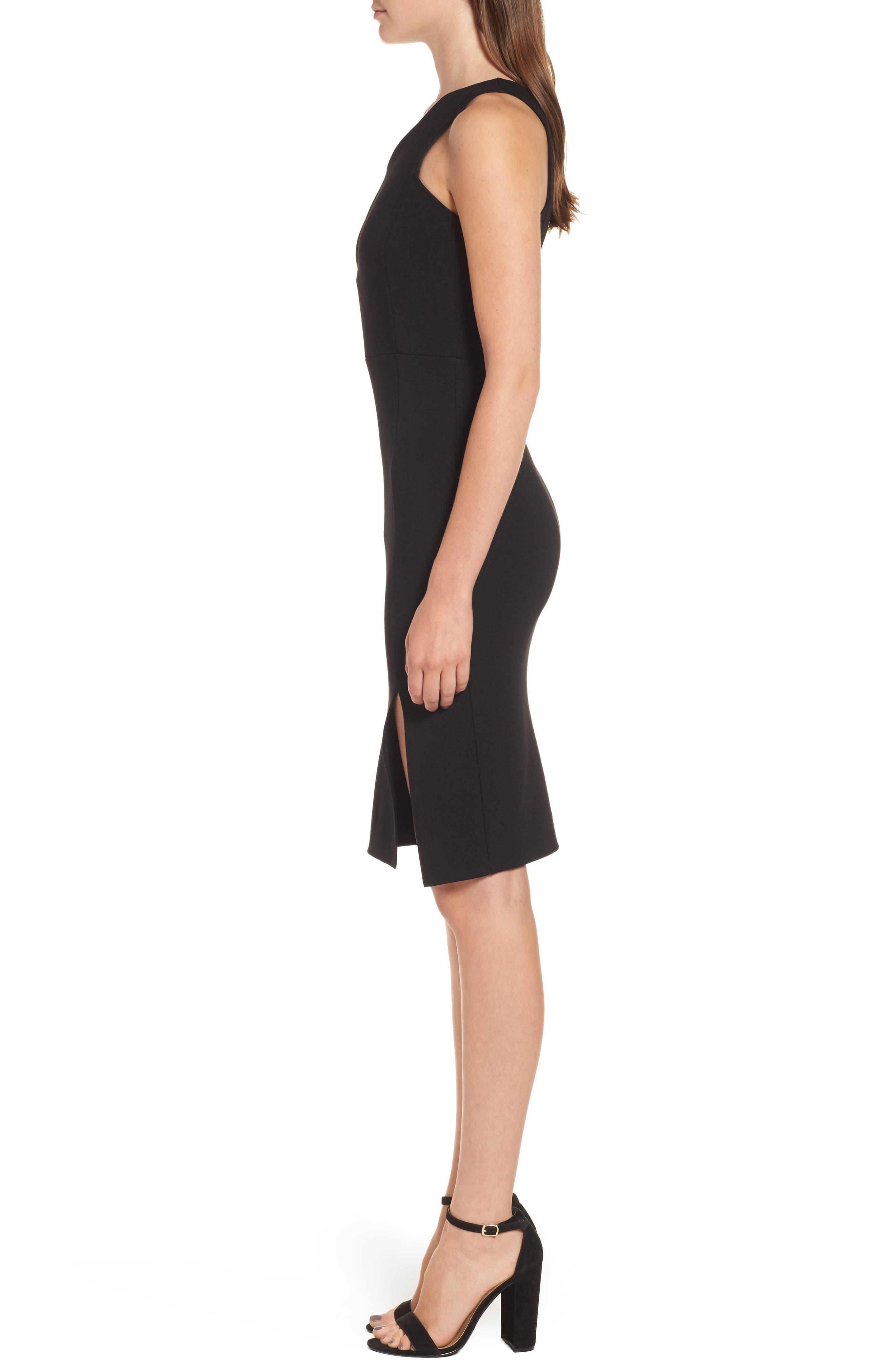 One-Shoulder Body-Con Dress,                             Alternate thumbnail 7, color,