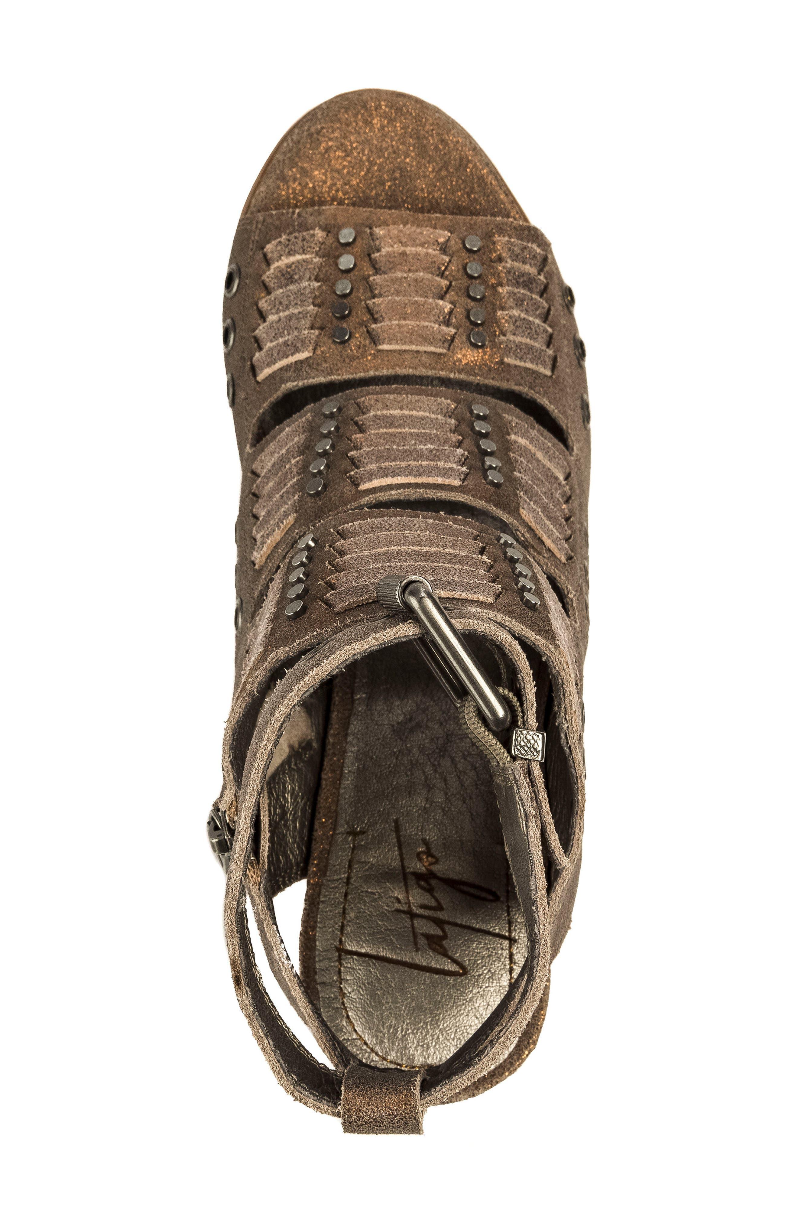 Alanis Tall Woven Sandal,                             Alternate thumbnail 5, color,