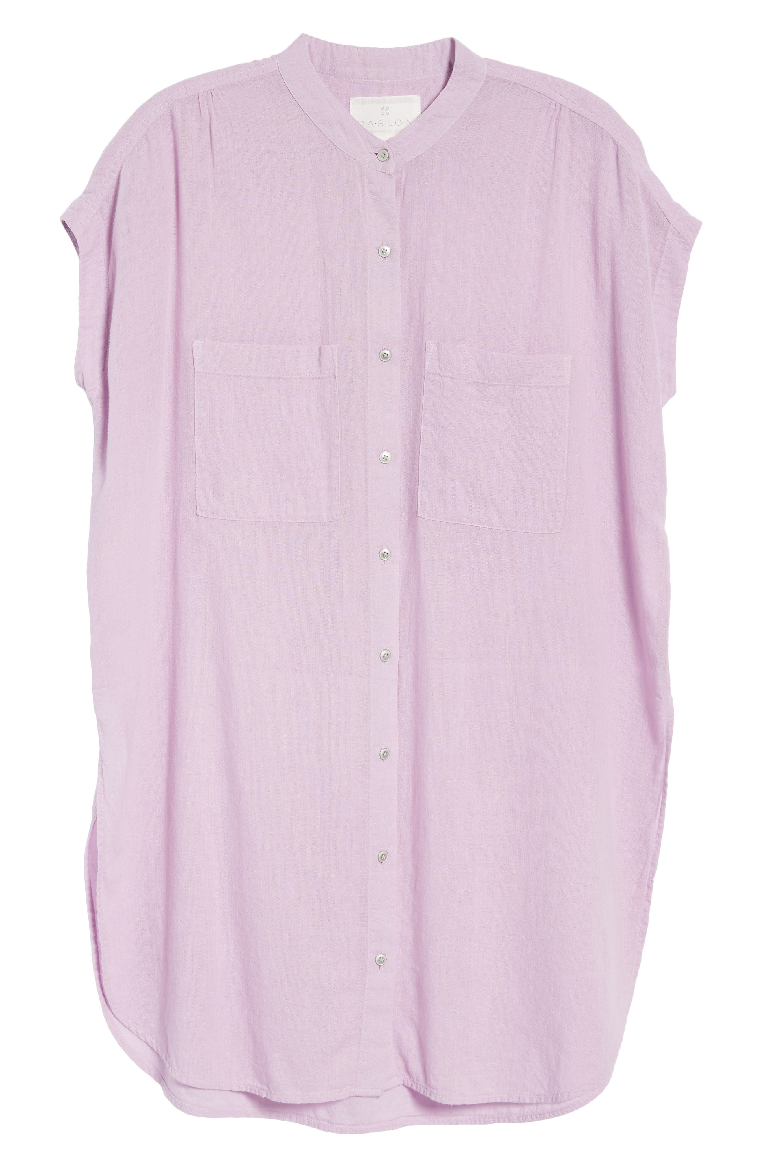 Button Front Longline Top,                             Alternate thumbnail 46, color,