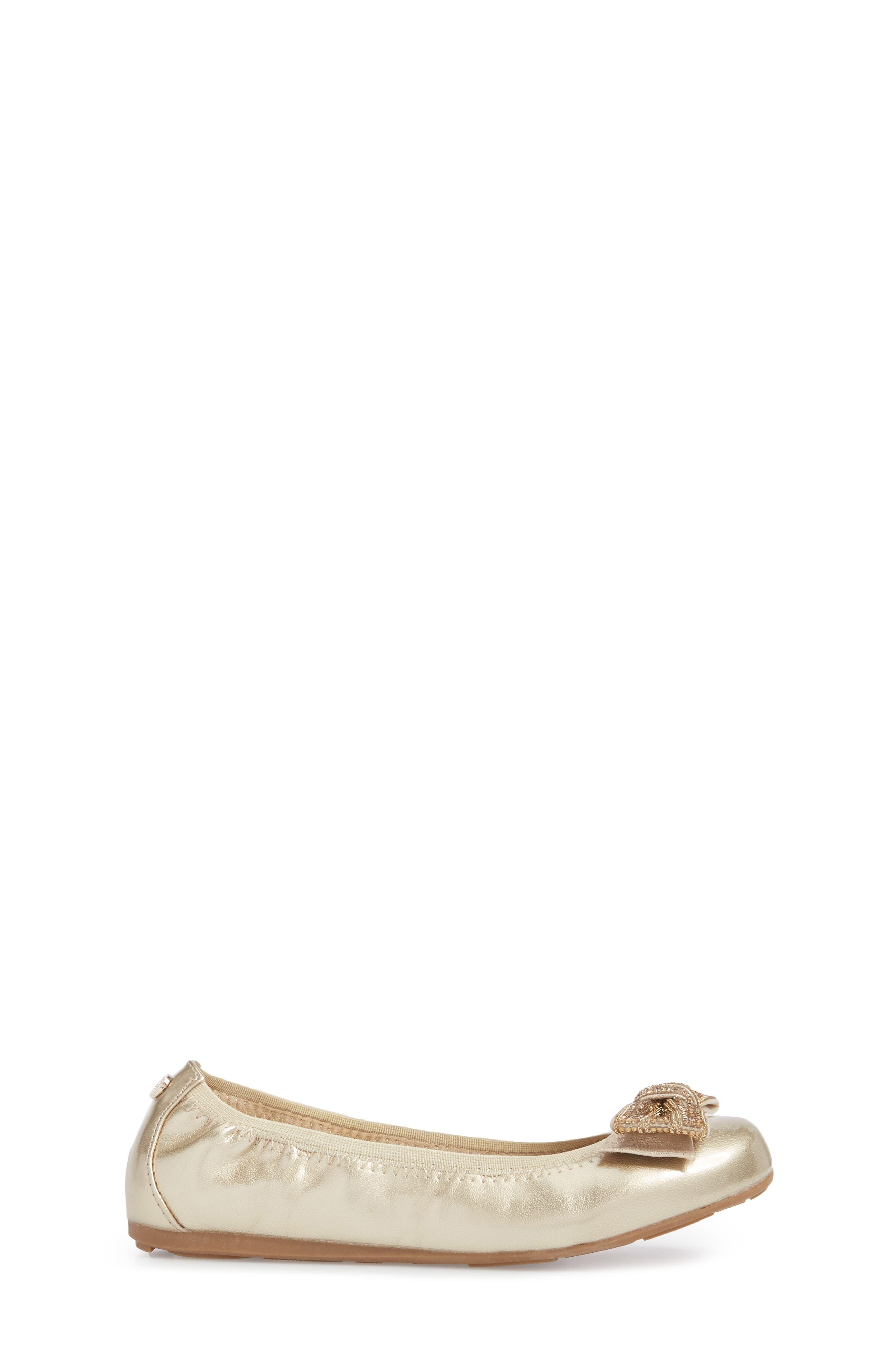 Fannie Embellished Bow Ballet Flat,                             Alternate thumbnail 9, color,