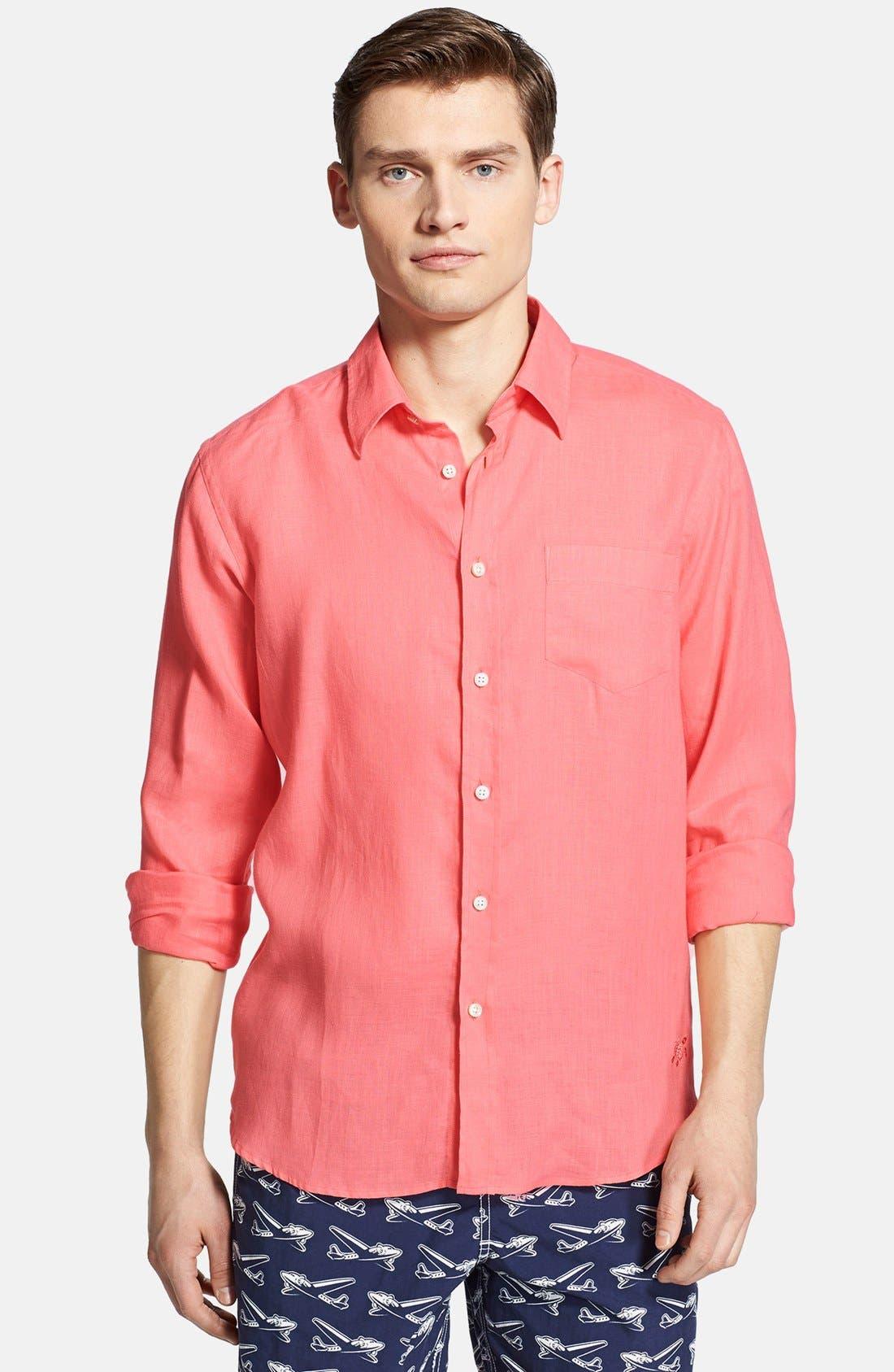'Caroubier' Linen Shirt,                             Main thumbnail 14, color,
