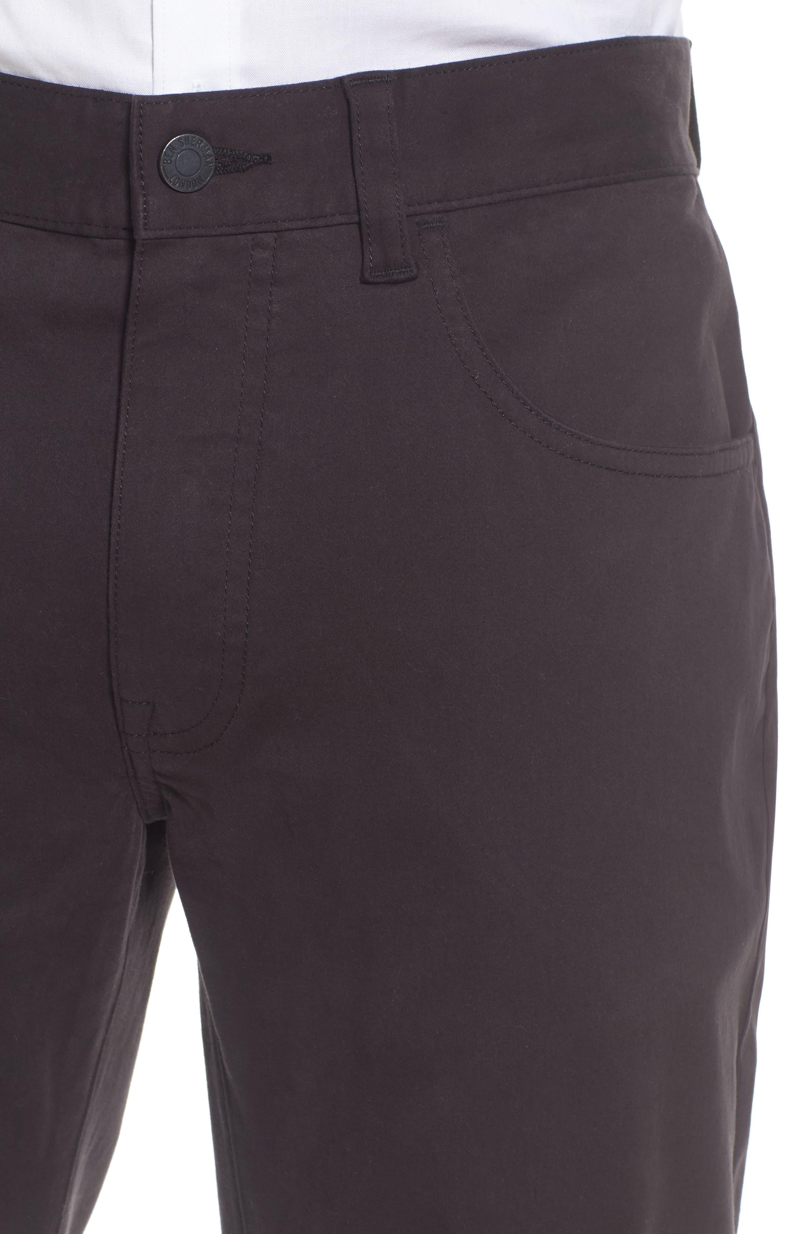 Slim Stretch Twill Pants,                             Alternate thumbnail 4, color,                             001
