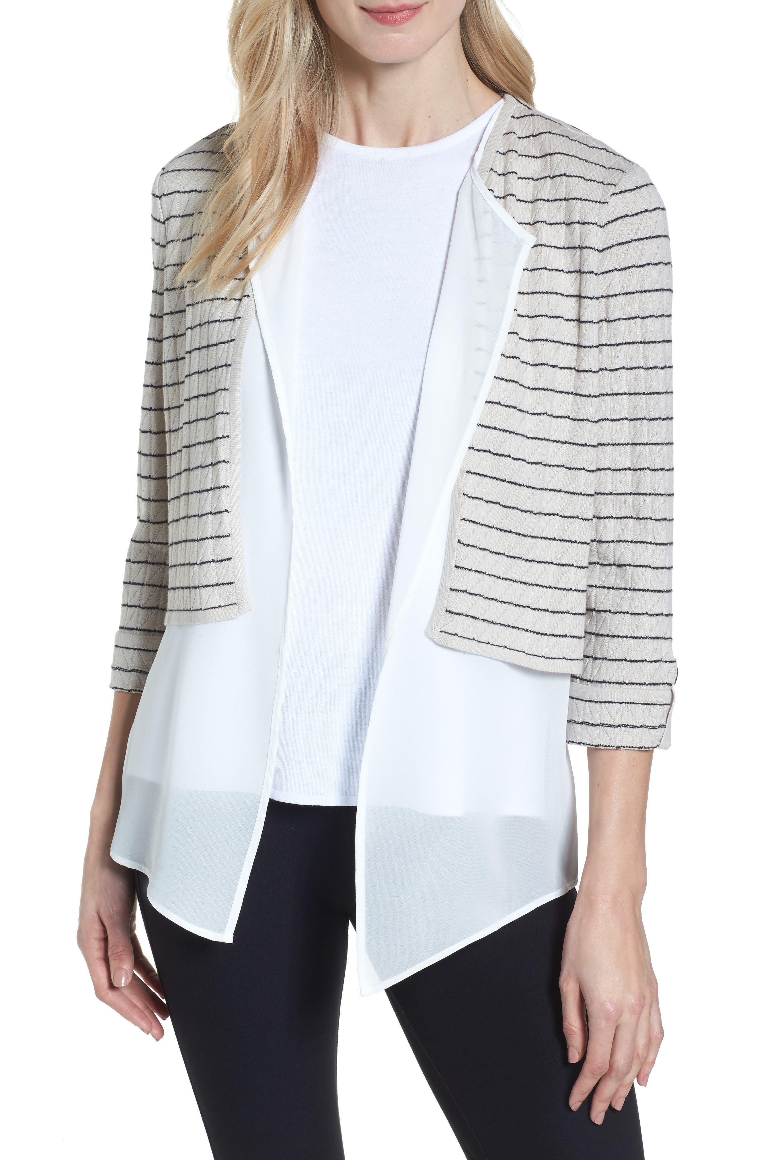 Layered Look Knit Jacket,                             Main thumbnail 1, color,                             278