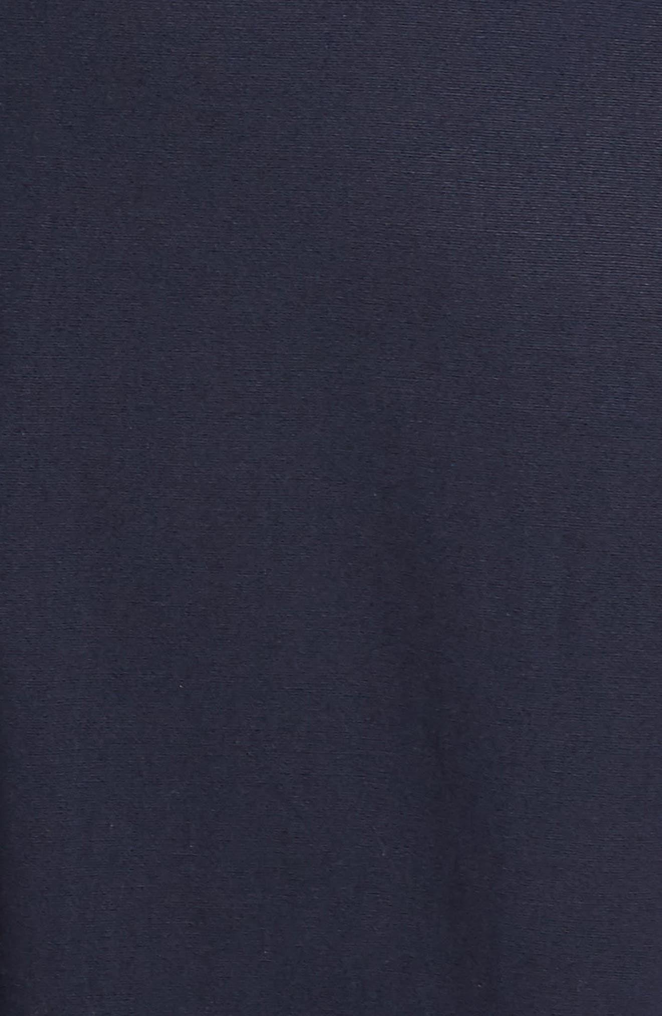 Pleat Collar Sleeveless Jumpsuit,                             Alternate thumbnail 6, color,                             NAVY