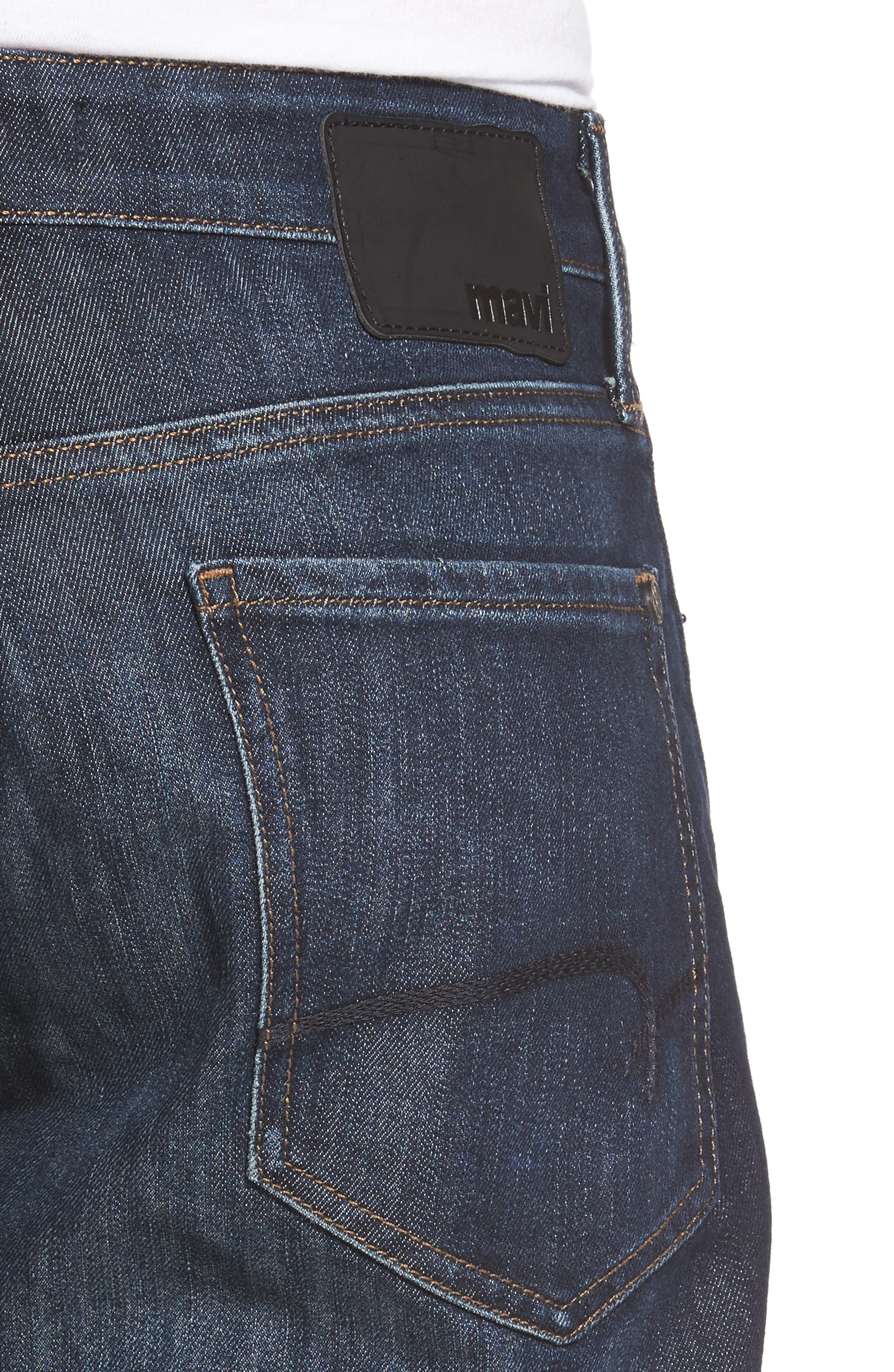 Matt Relaxed Fit Jeans,                             Alternate thumbnail 4, color,                             DARK STANFORD