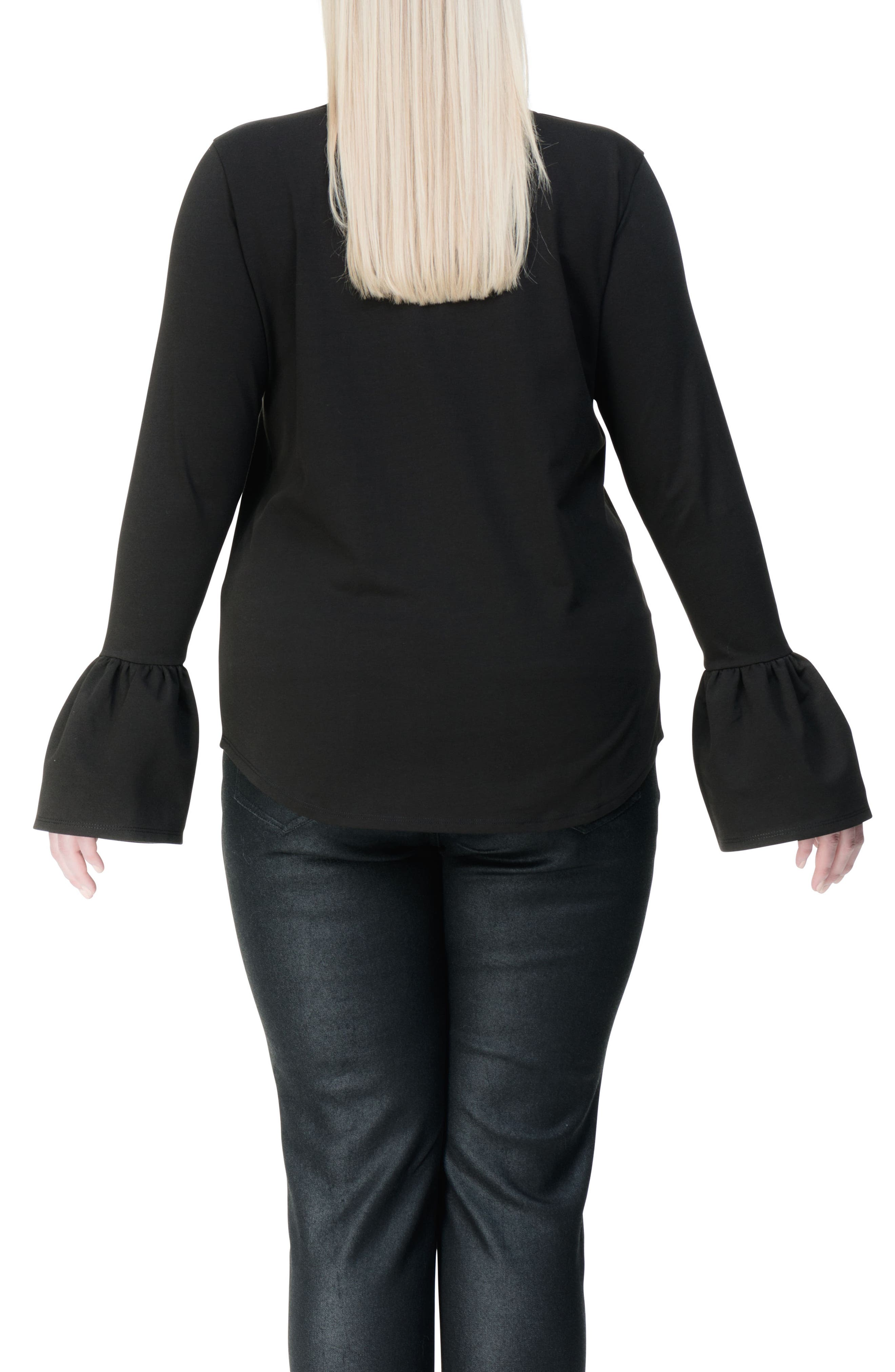 Archer Bell Sleeve Top,                             Alternate thumbnail 2, color,                             001