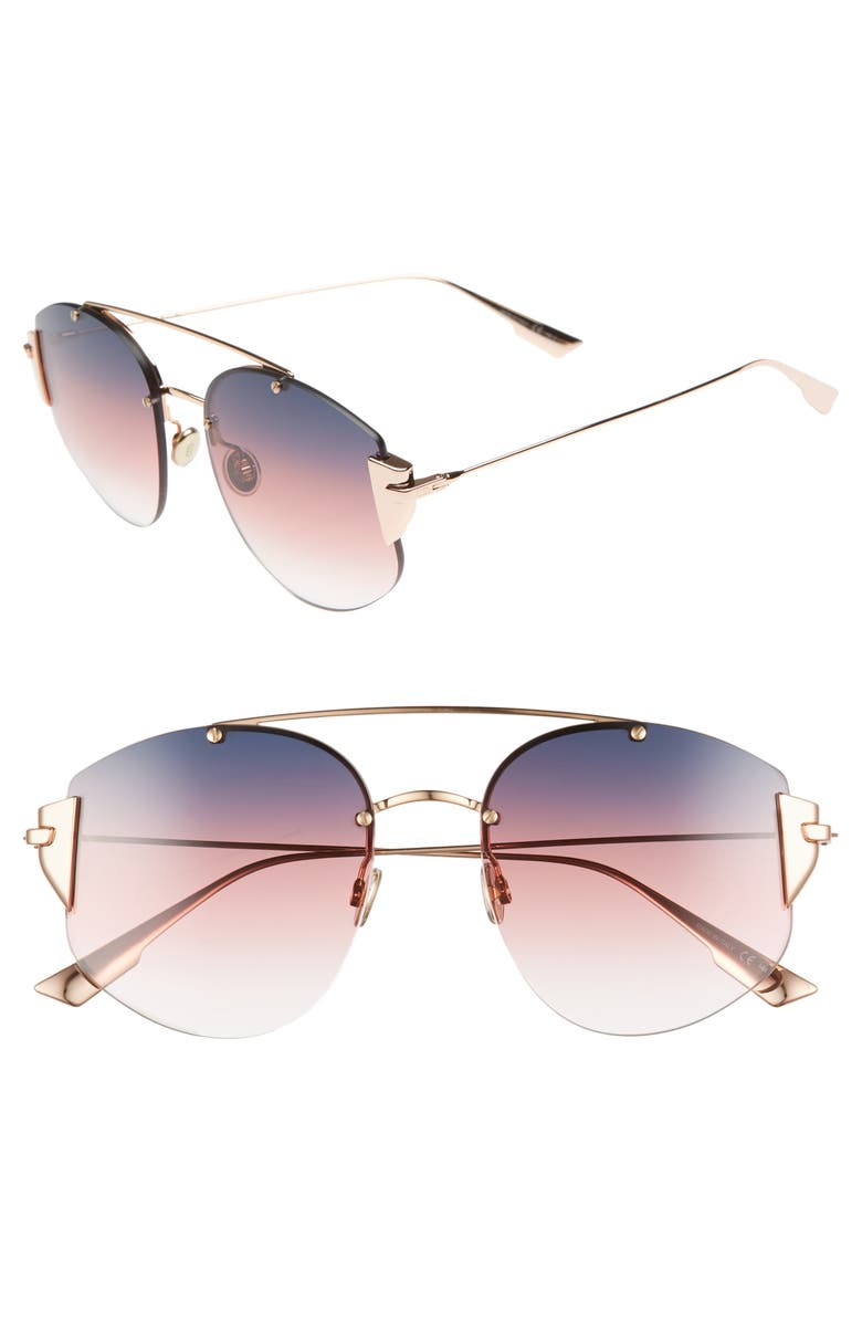 6c1db18717 Dior Women  39 S Stronger Mirrored Brow Bar Rimless Square Sunglasses
