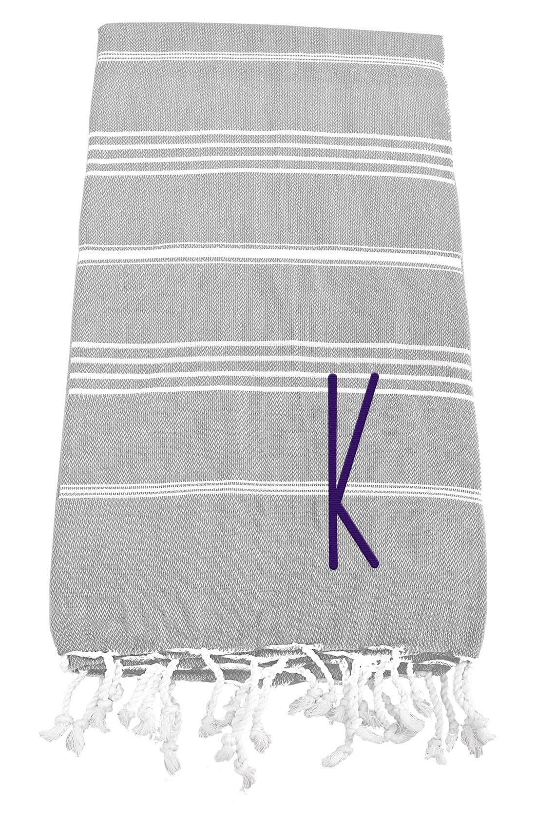 Monogram Turkish Cotton Towel,                             Main thumbnail 13, color,