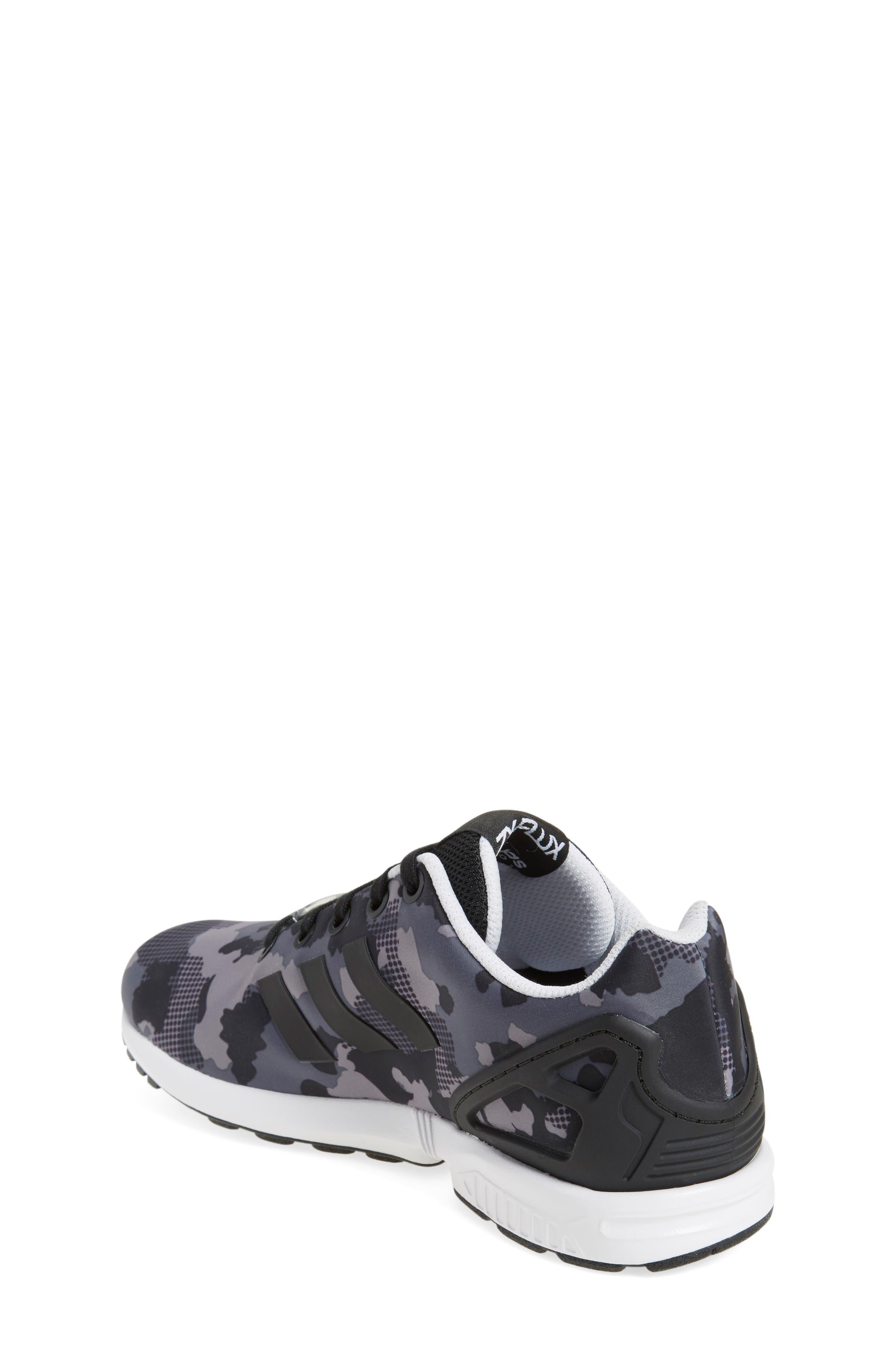 'ZX Flux EL' Sneaker,                             Alternate thumbnail 3, color,                             001