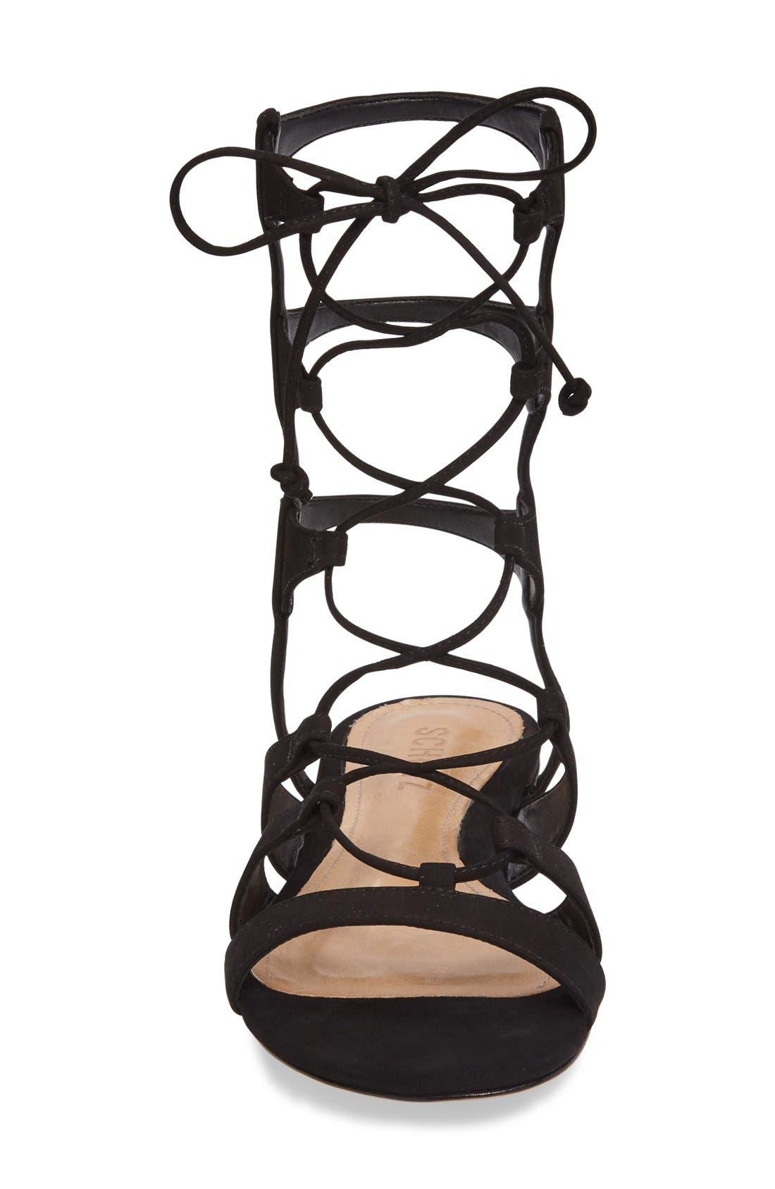 Erlina Lace-Up Sandal,                             Alternate thumbnail 4, color,                             004