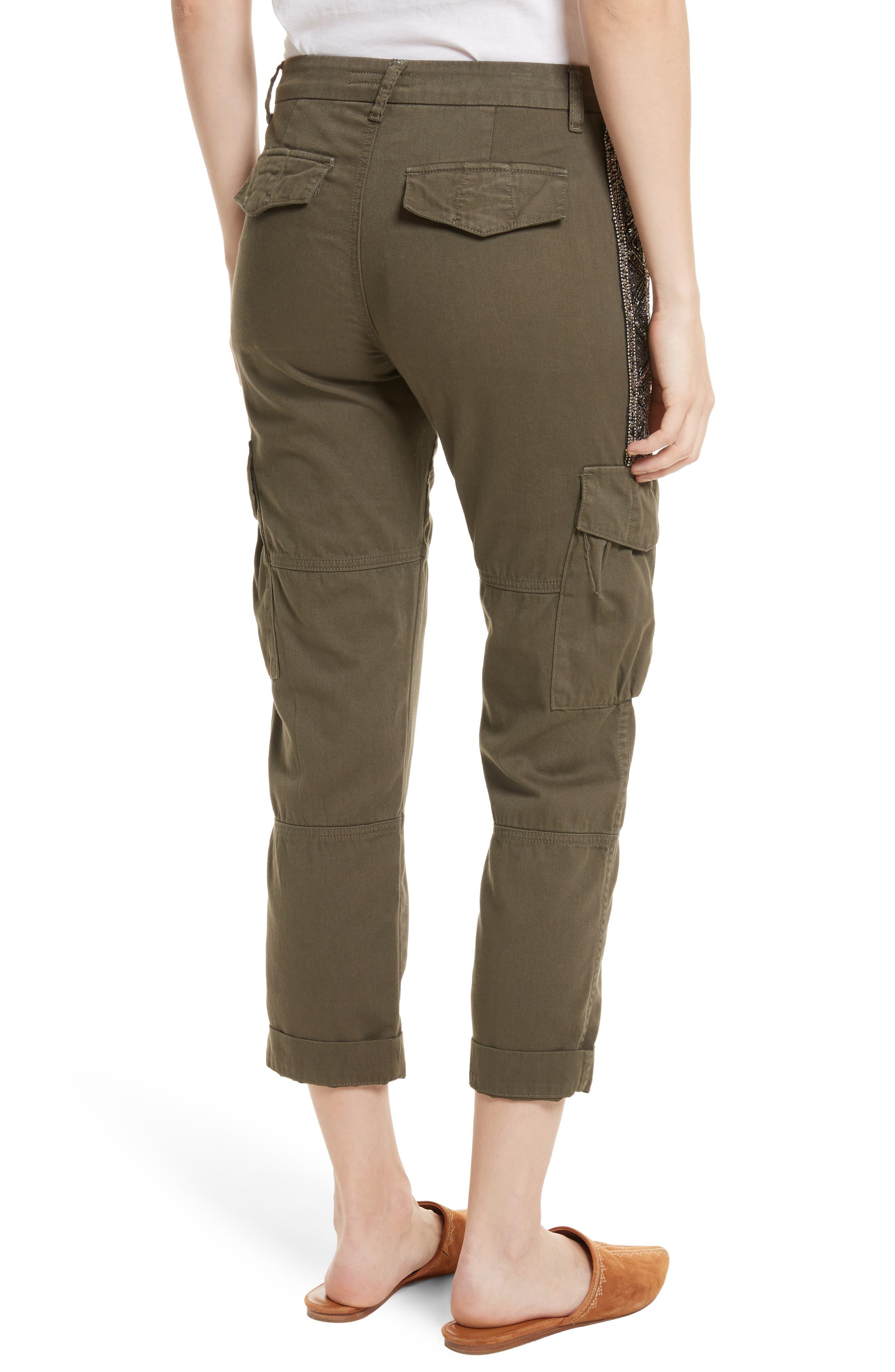 Embellished Cargo Pants,                             Alternate thumbnail 2, color,