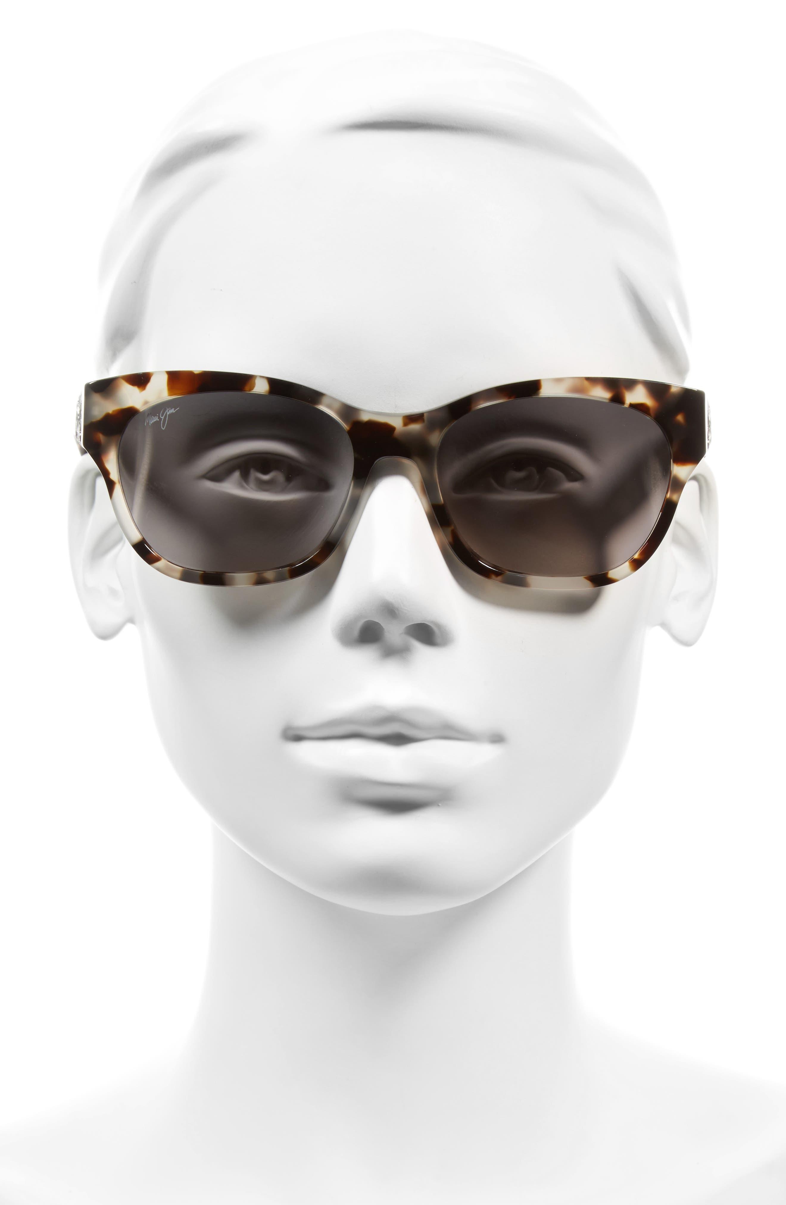 Monstera Leaf 57mm Polarized Sunglasses,                             Alternate thumbnail 2, color,                             100