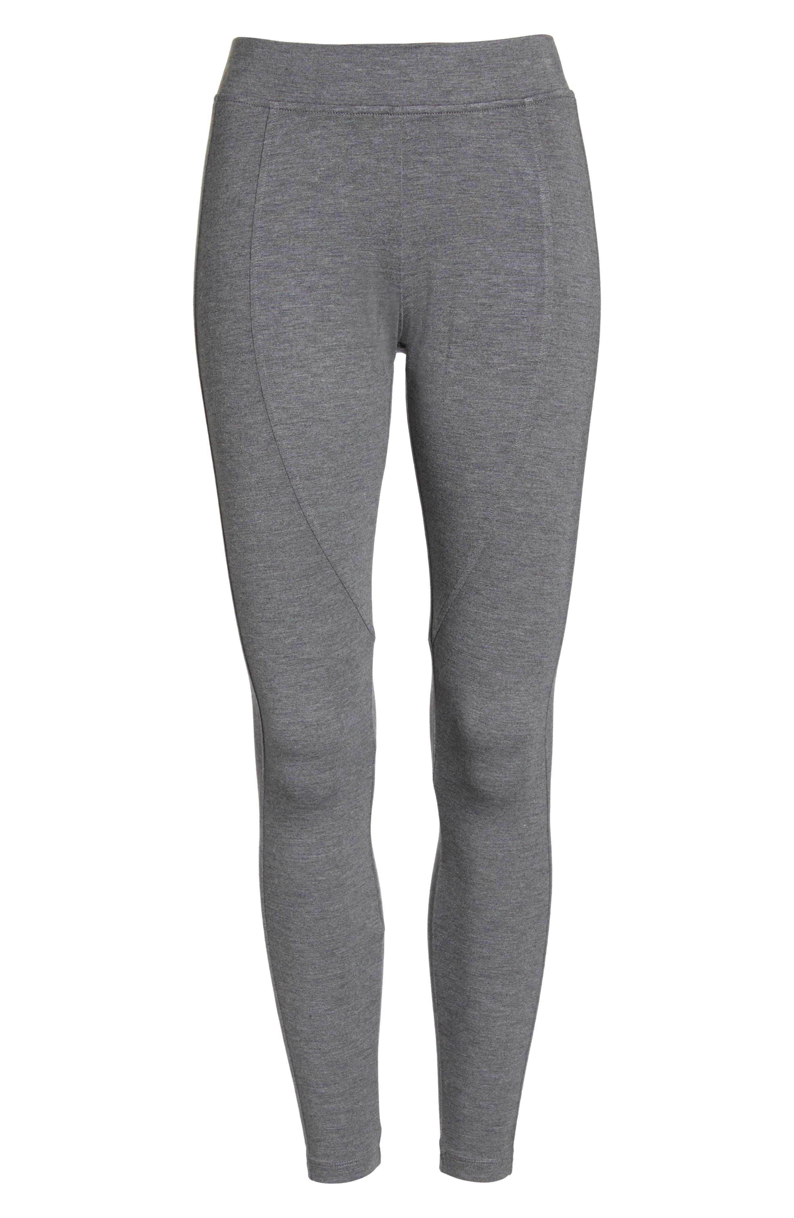 'Watts' Terry Leggings,                             Alternate thumbnail 6, color,                             CHARCOAL HEATHER