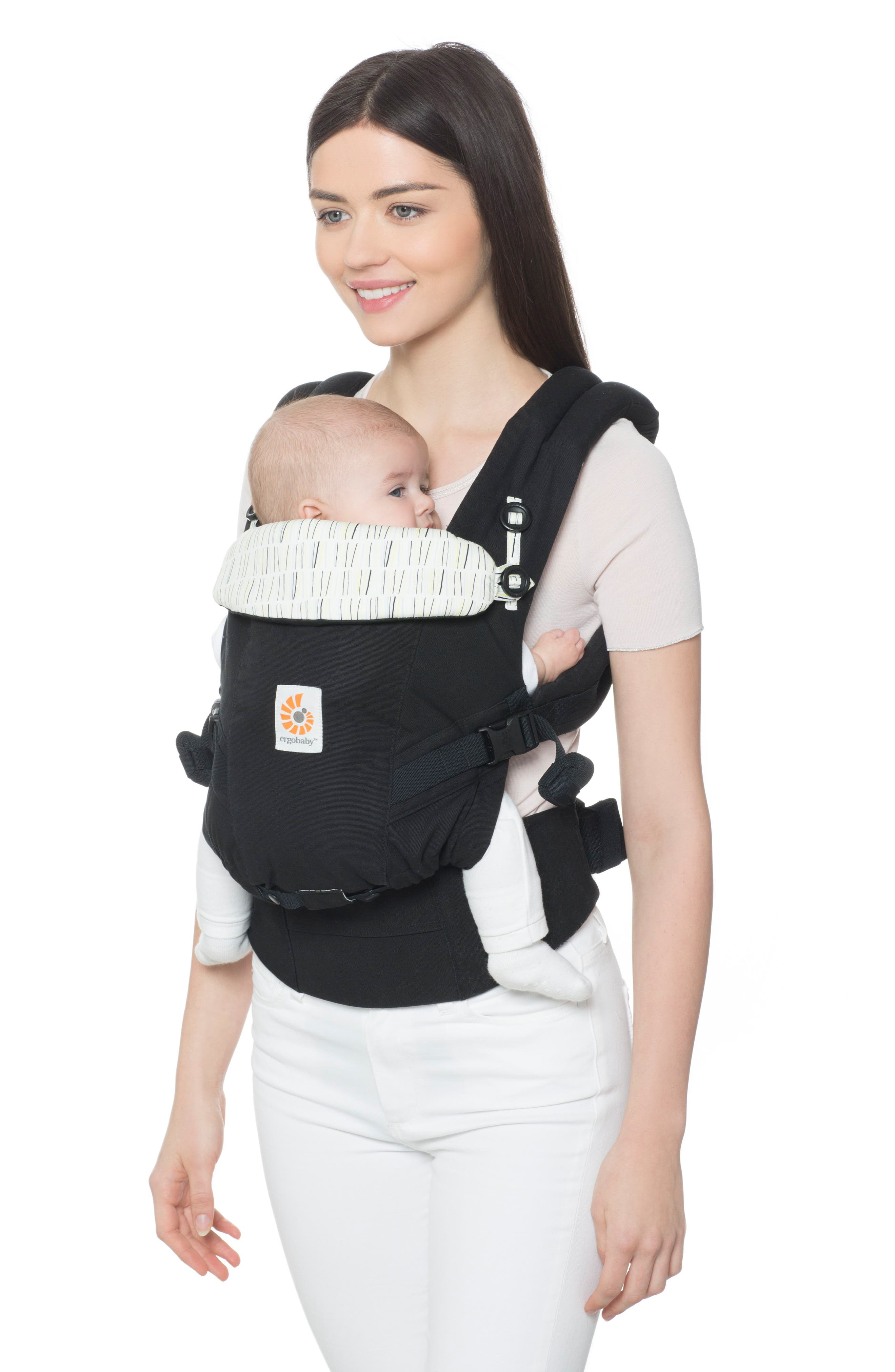 Three Position ADAPT Baby Carrier,                             Alternate thumbnail 2, color,                             DOWNTOWN BLACK