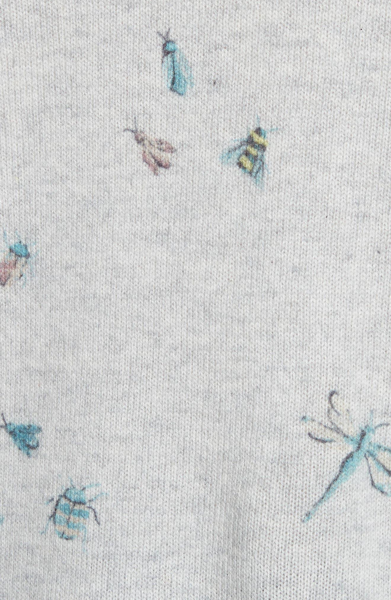 Eloisa Painted Bug Cashmere Top,                             Alternate thumbnail 5, color,