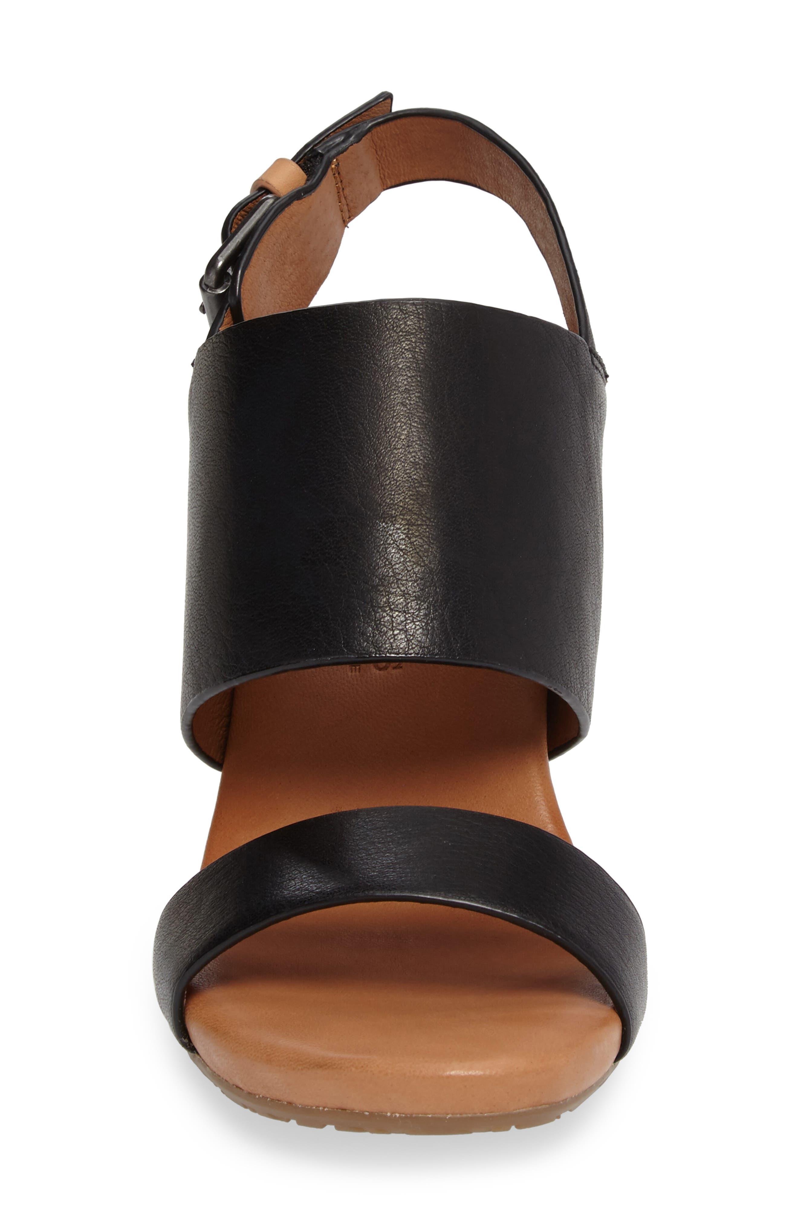 Inka Wedge Sandal,                             Alternate thumbnail 4, color,                             001