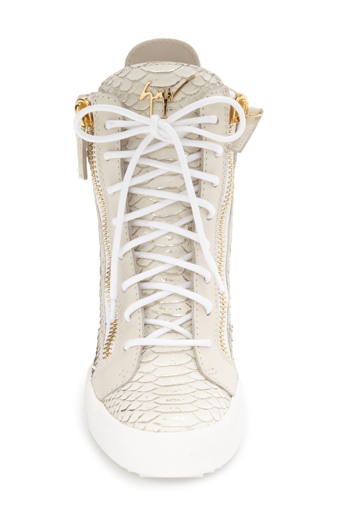 GIUSEPPE ZANOTTI,                             Ofelia Wedge Sneaker,                             Alternate thumbnail 3, color,                             040