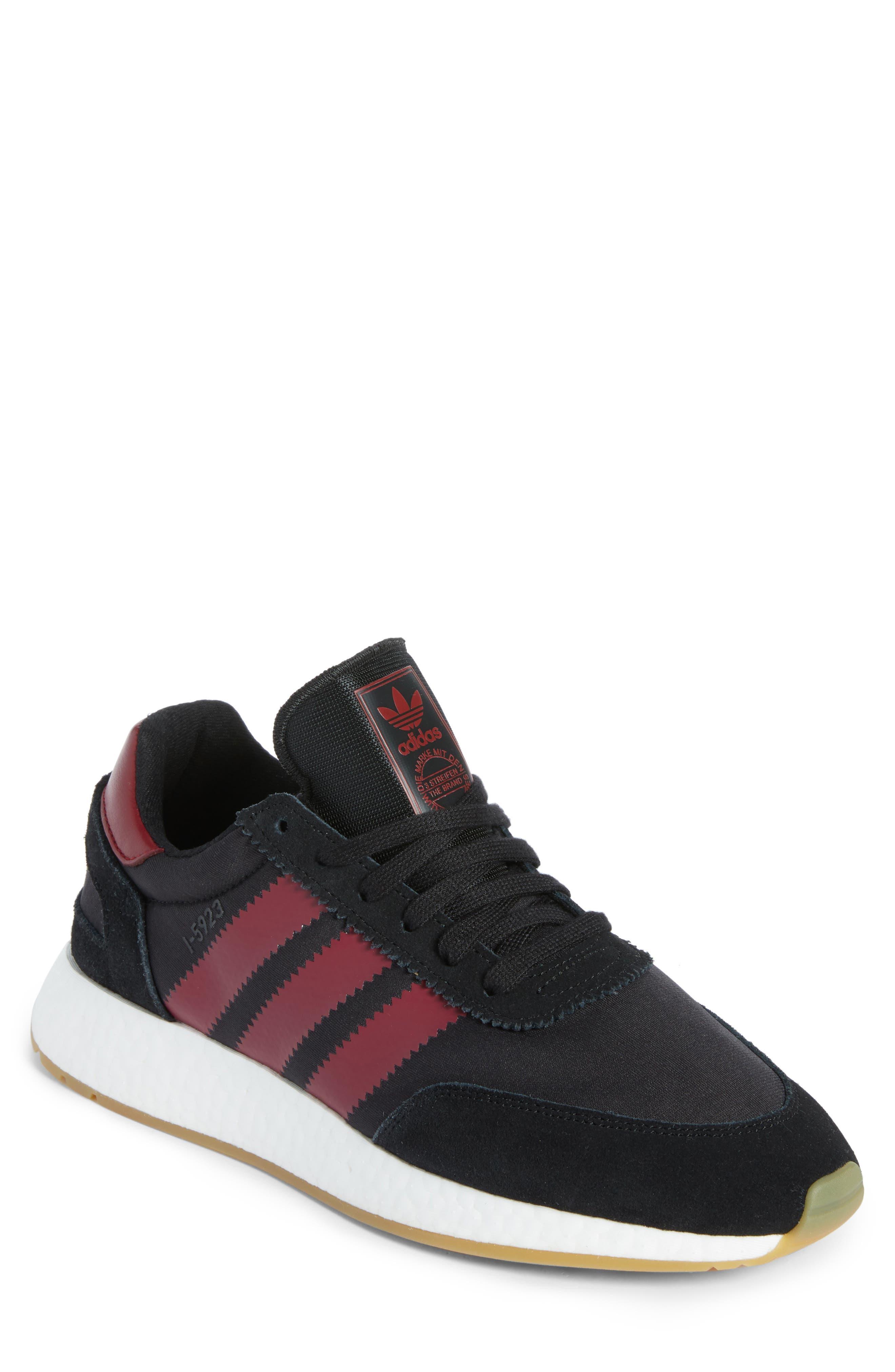 I-5923 Sneaker,                             Main thumbnail 1, color,                             BLACK/ BURGUNDY/ WHITE