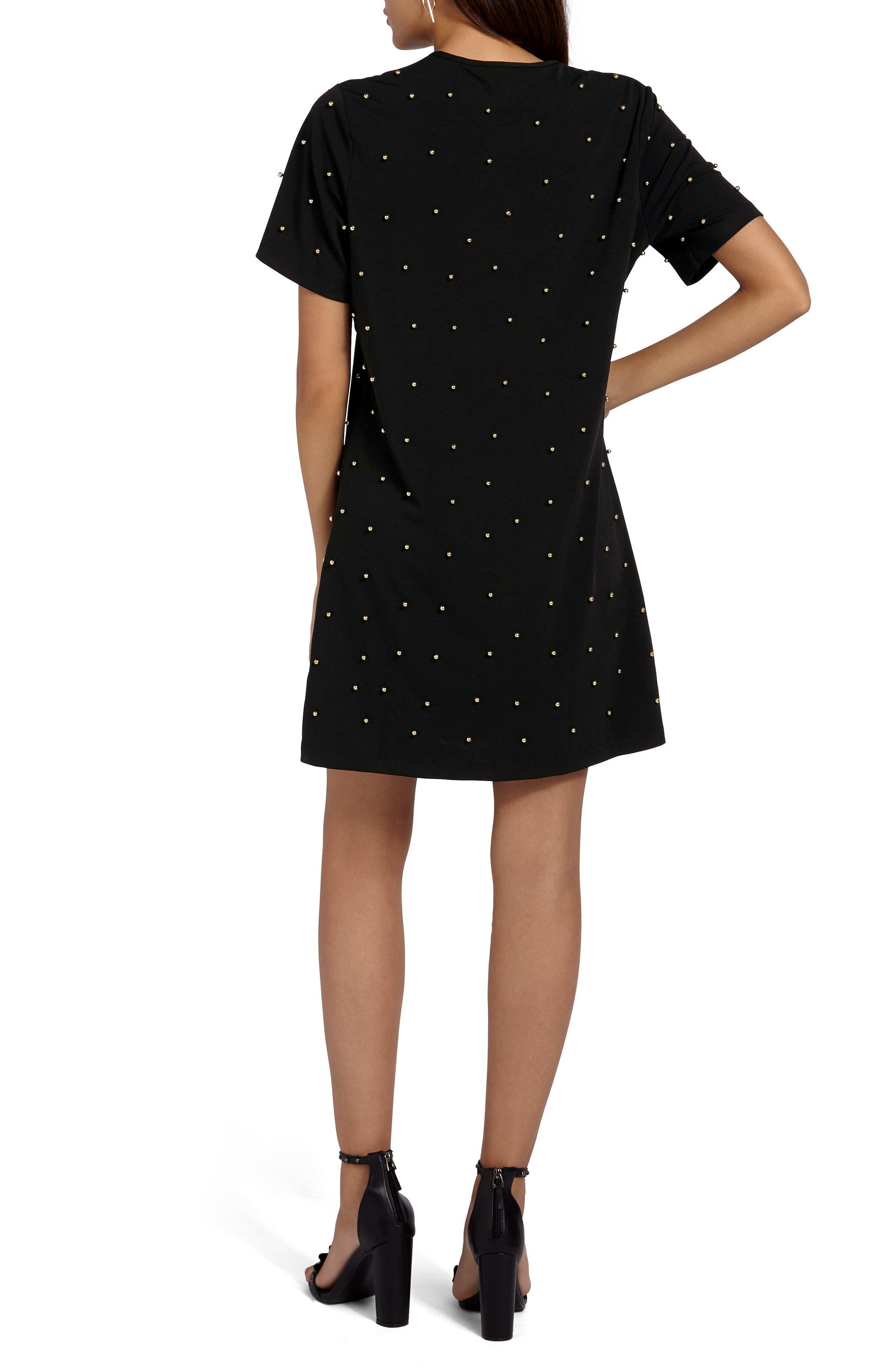 Embellished T-Shirt Dress,                             Alternate thumbnail 2, color,
