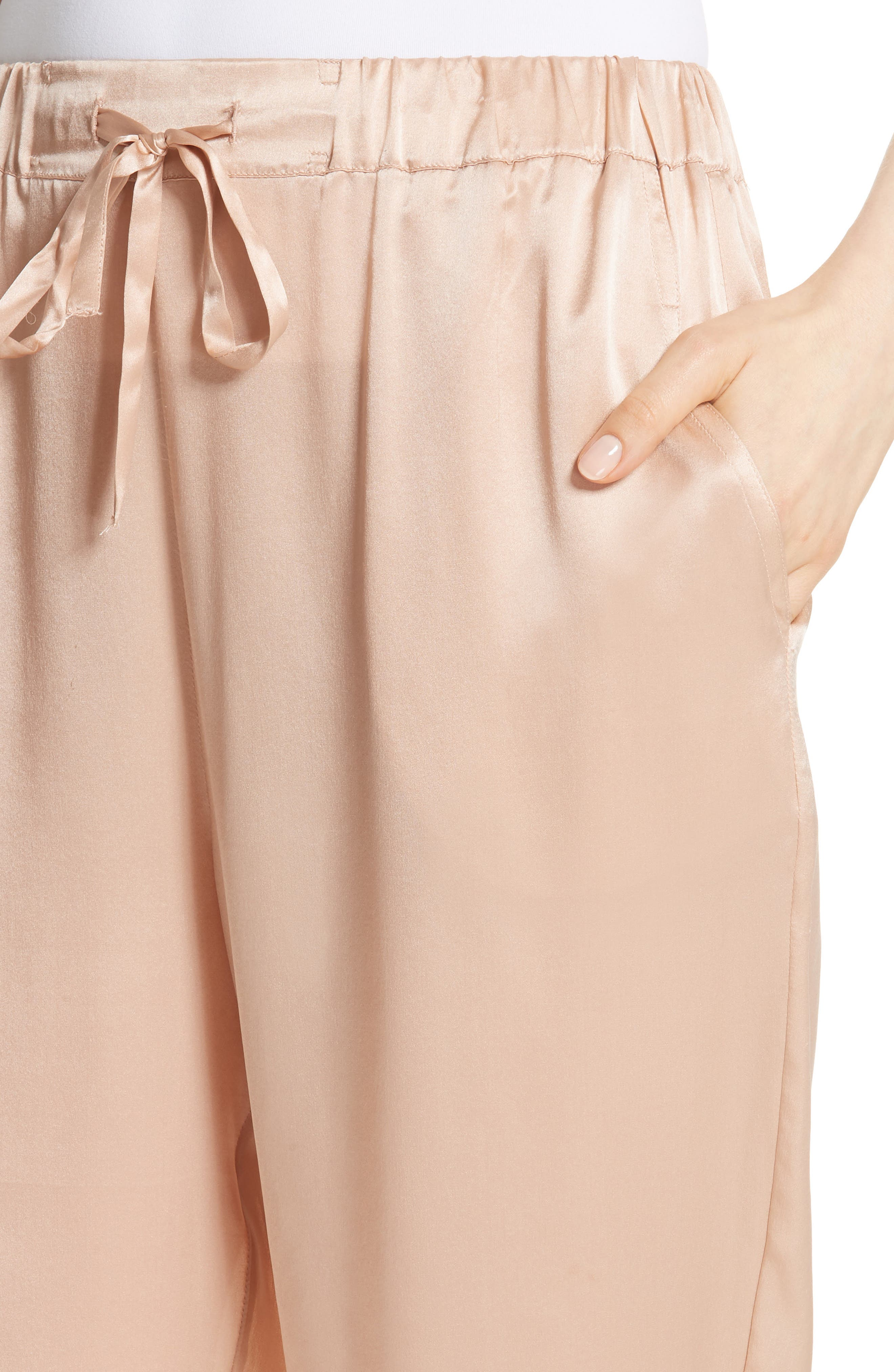 Fester Silk Ankle Pants,                             Alternate thumbnail 4, color,                             250