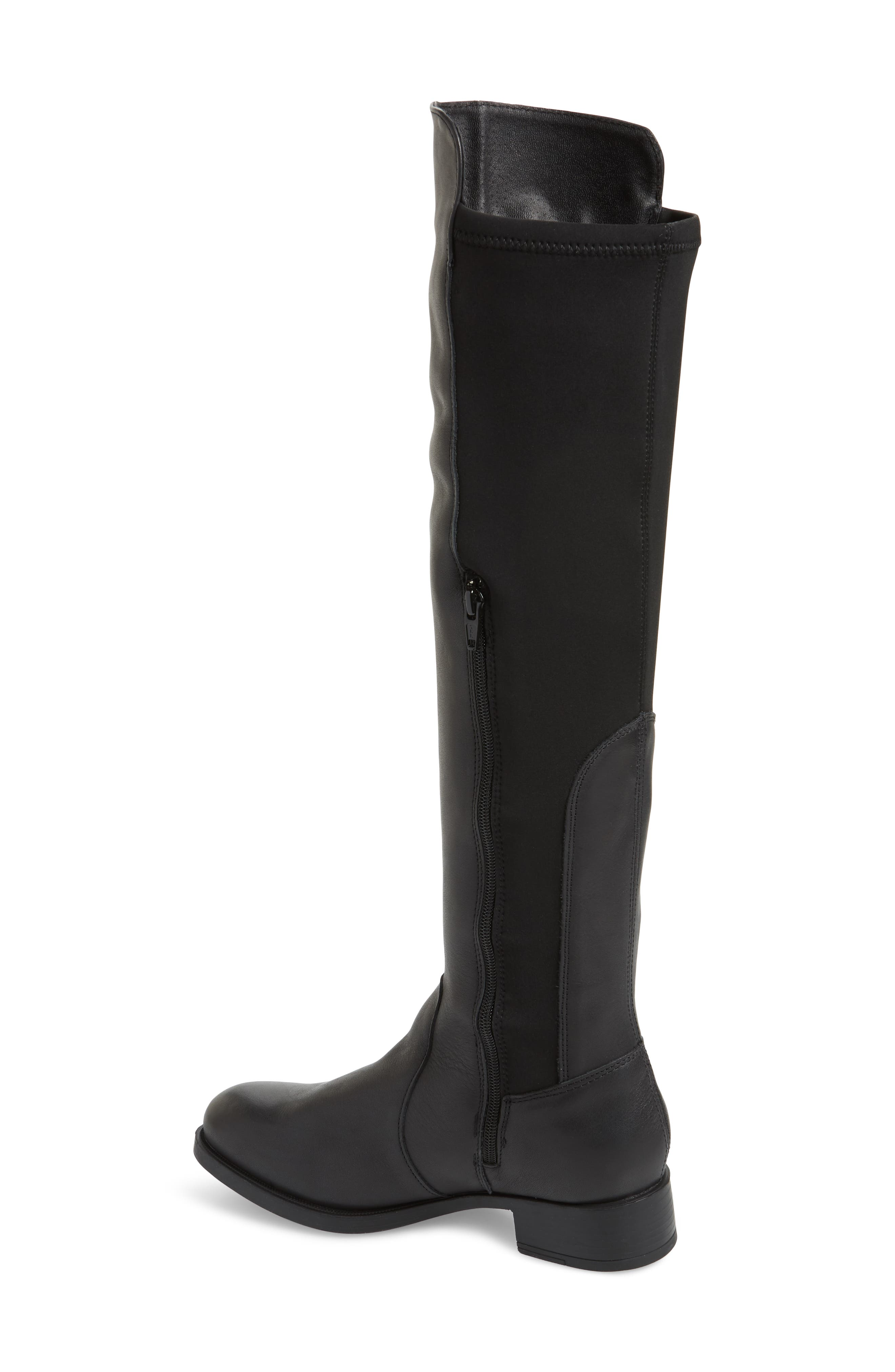BOS. & CO.,                             Bunt Waterproof Over the Knee Boot,                             Alternate thumbnail 2, color,                             BLACK MELBOURNE/ LYCRA