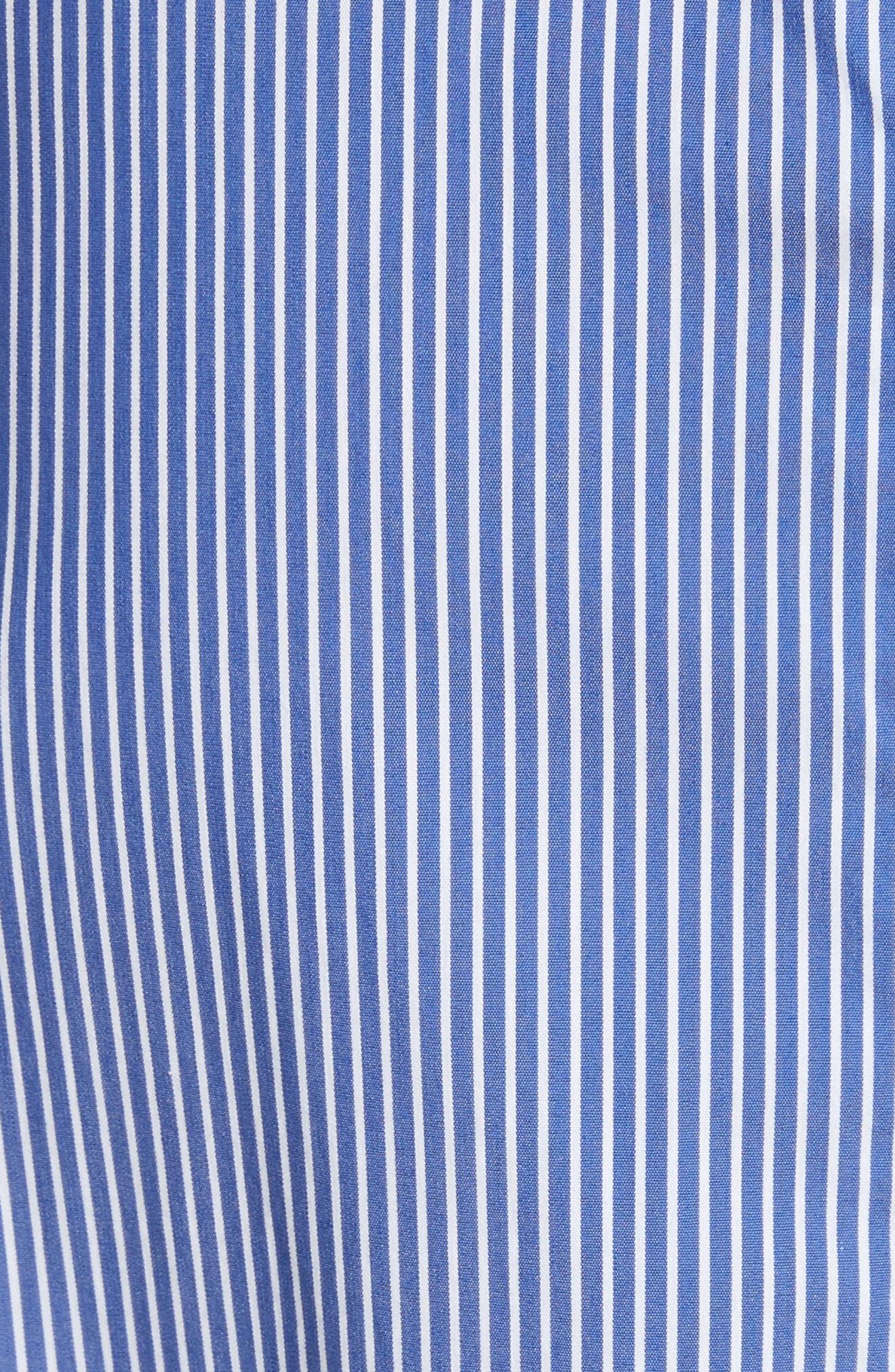Colorblock Collage Stripe Halter Dress,                             Alternate thumbnail 5, color,                             400