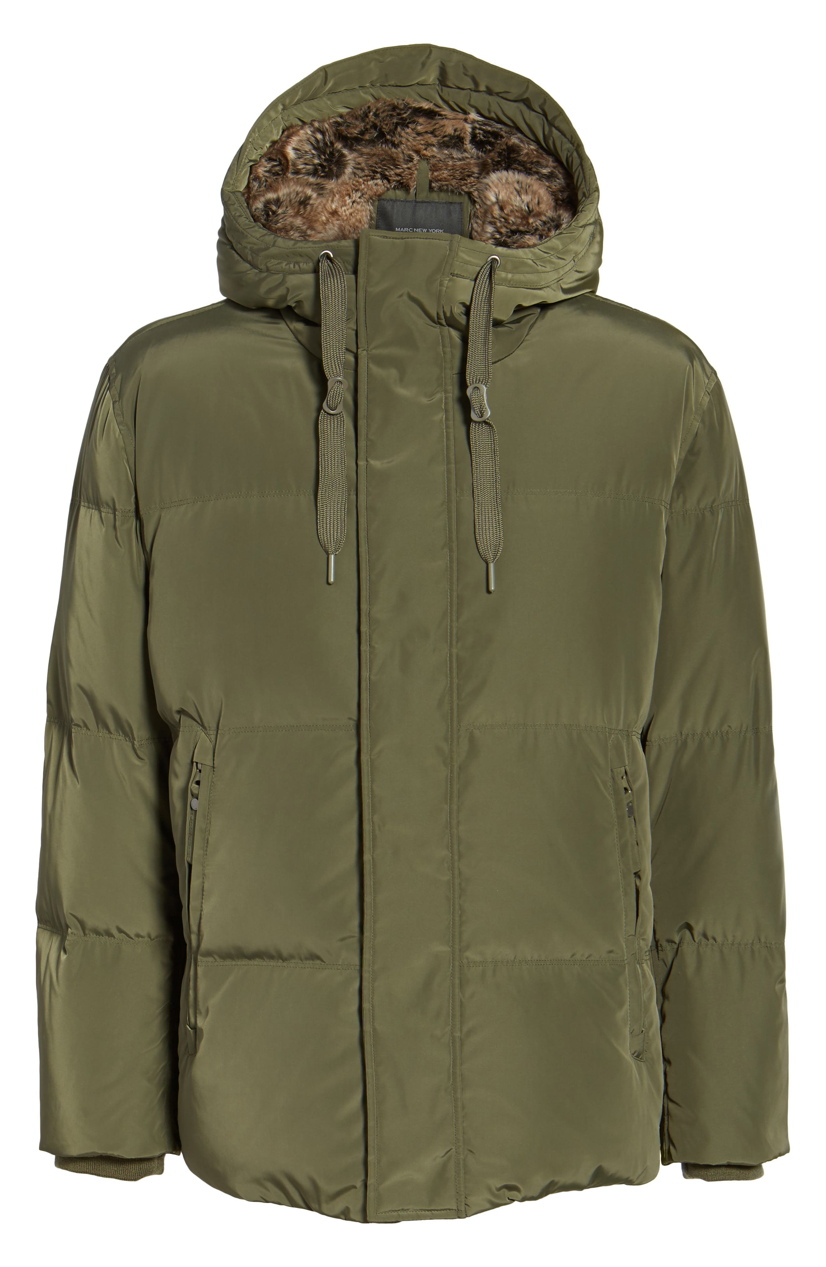 Athlone Faux Fur Down Jacket,                             Alternate thumbnail 5, color,                             313