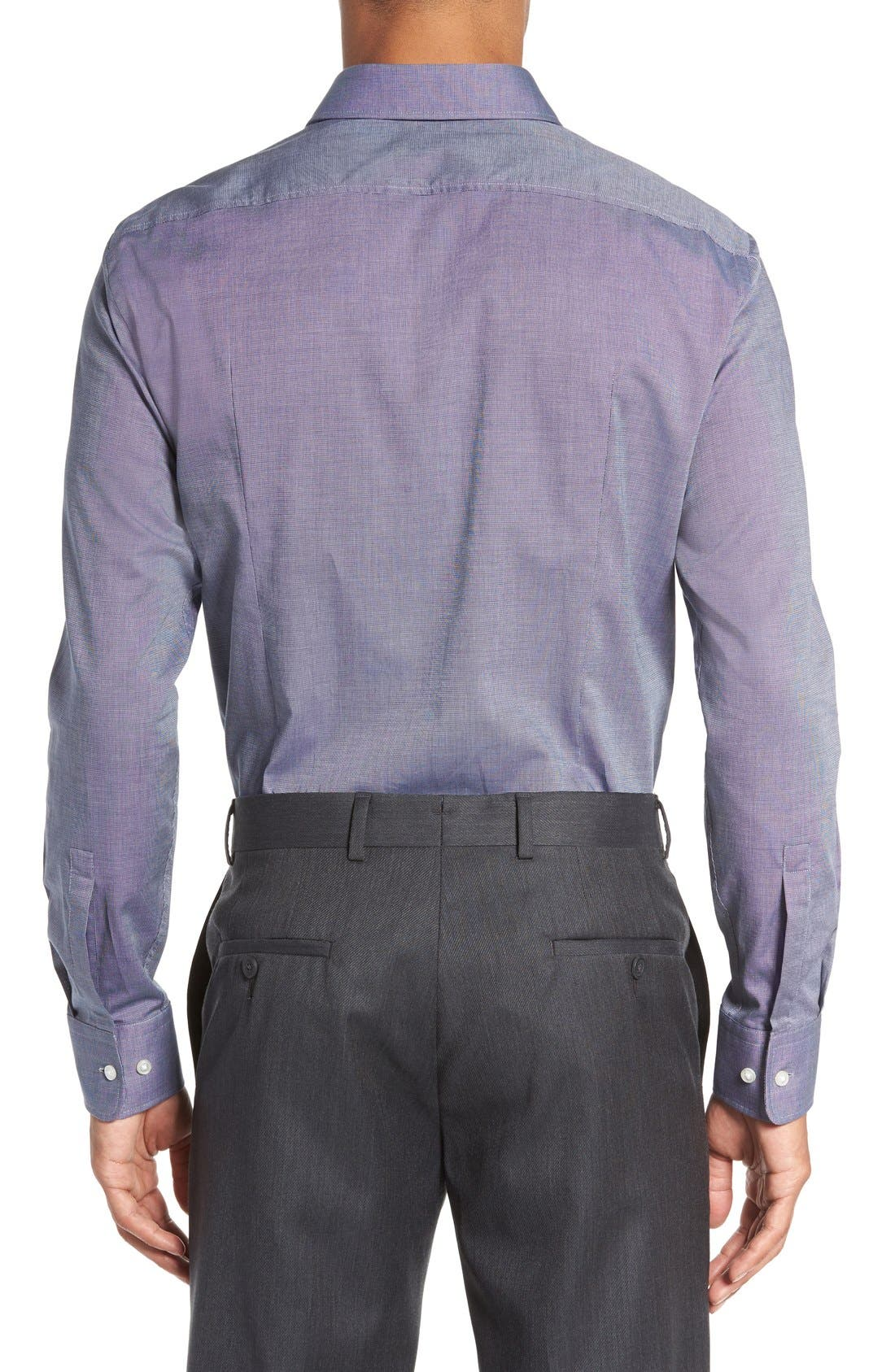 Sharp Fit Solid Dress Shirt,                             Alternate thumbnail 15, color,
