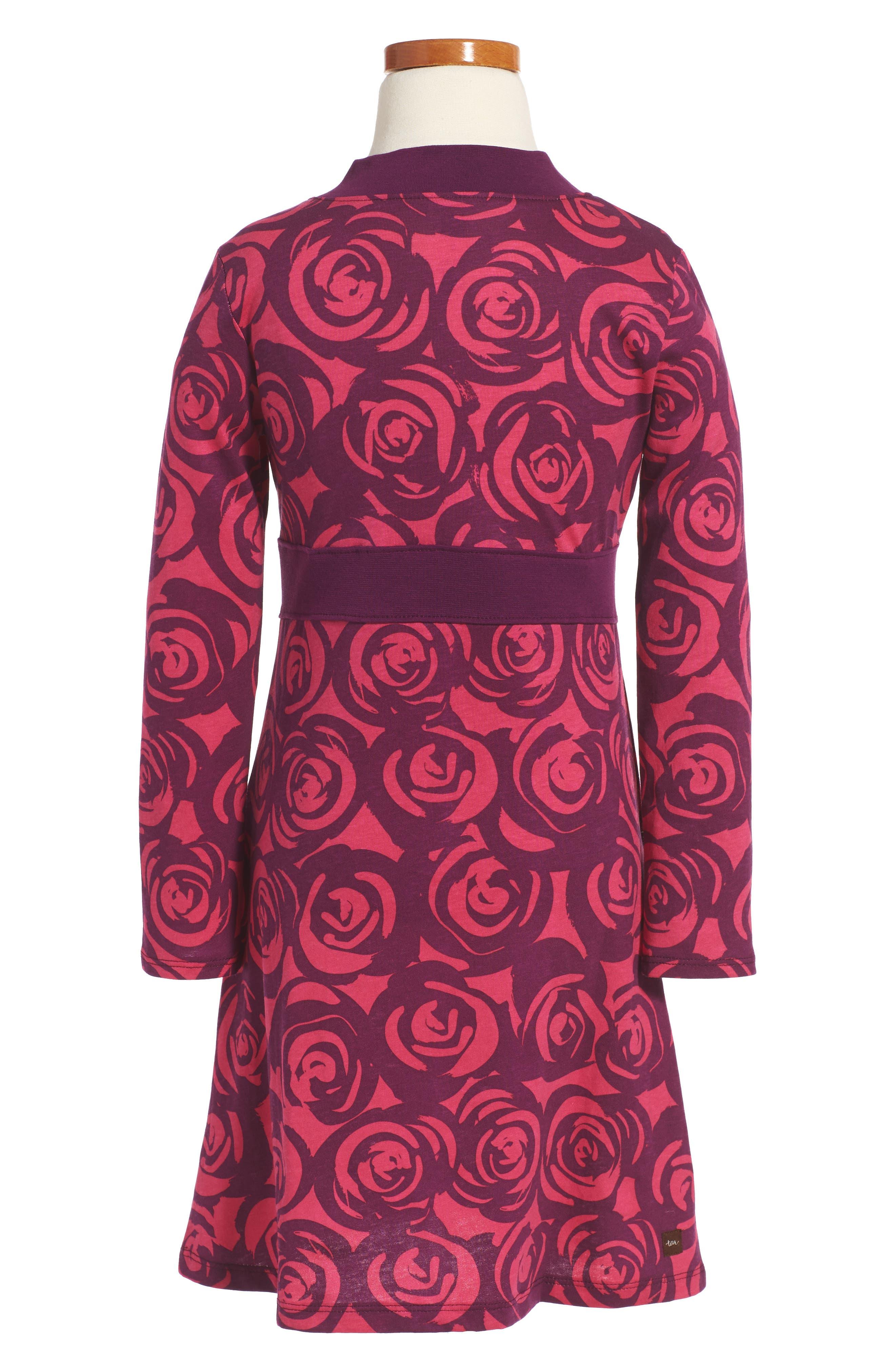 Rennie Rose Wrap Neck Dress,                             Alternate thumbnail 2, color,                             651