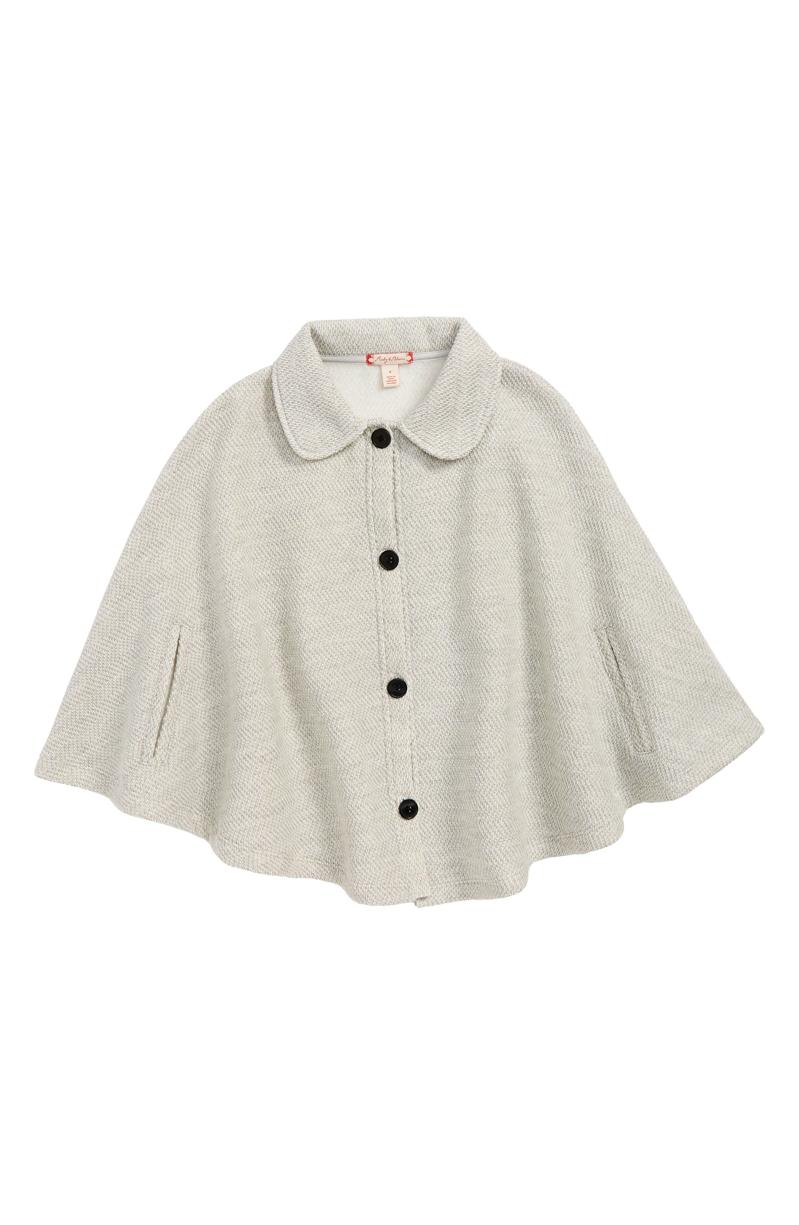 Girls Ruby  Bloom Cozy Cape Size 4  Grey
