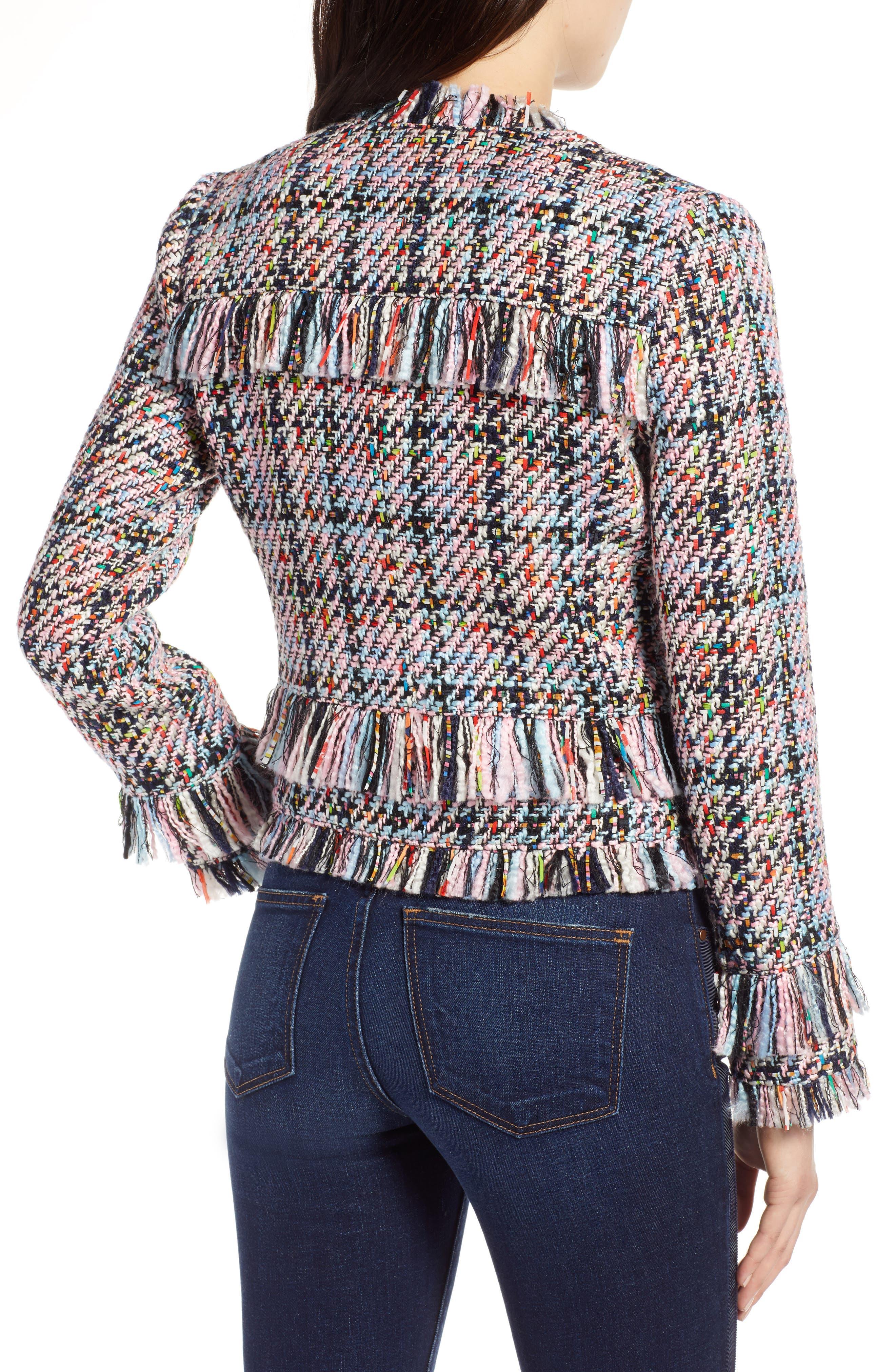 Raw Edge Tweed Jacket,                             Alternate thumbnail 2, color,                             680