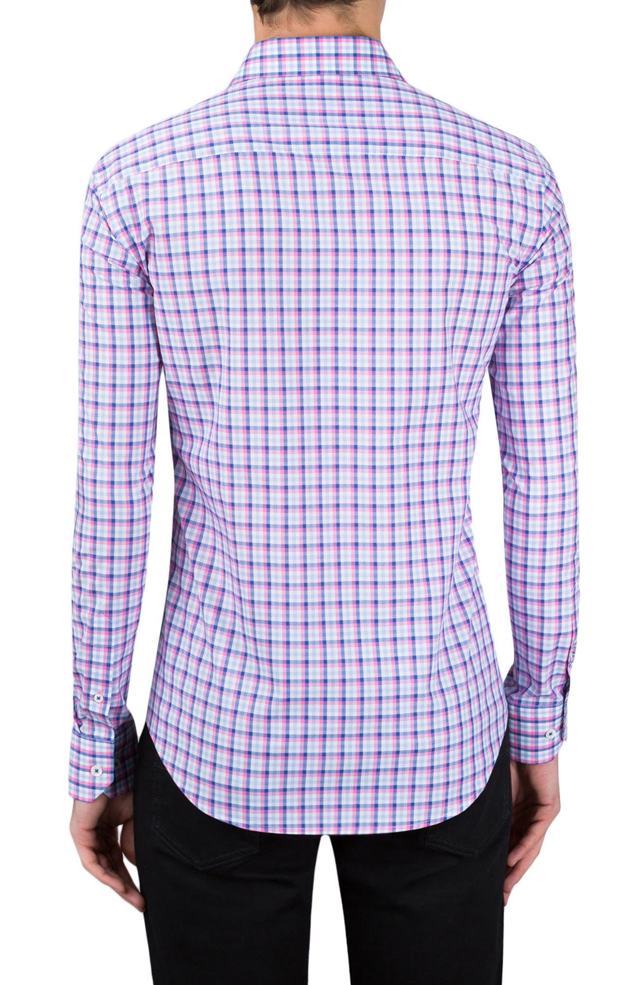 Shaped Fit Check Sport Shirt,                             Alternate thumbnail 2, color,                             682
