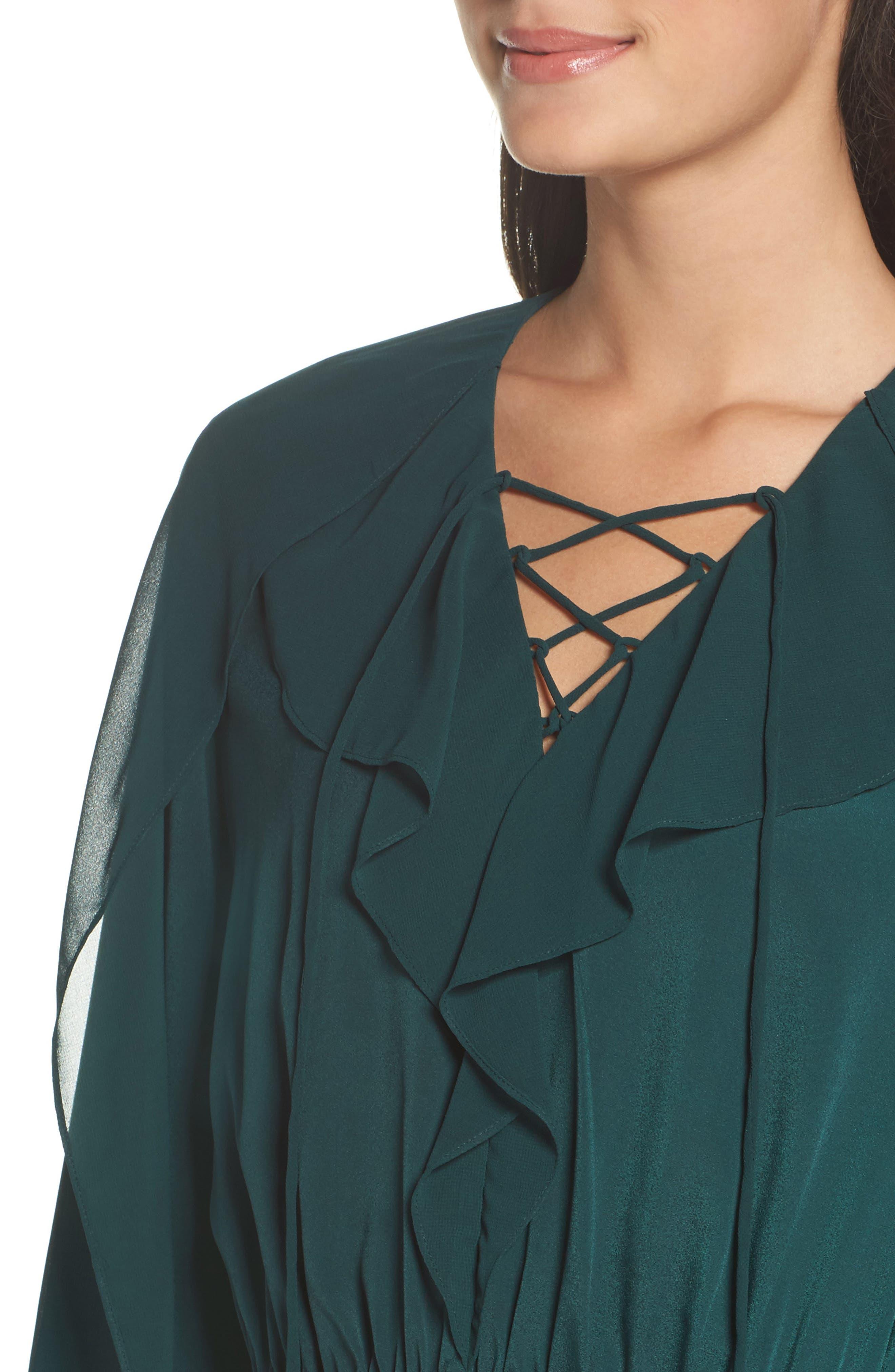 Keely Ruffle Blouson Dress,                             Alternate thumbnail 4, color,                             309