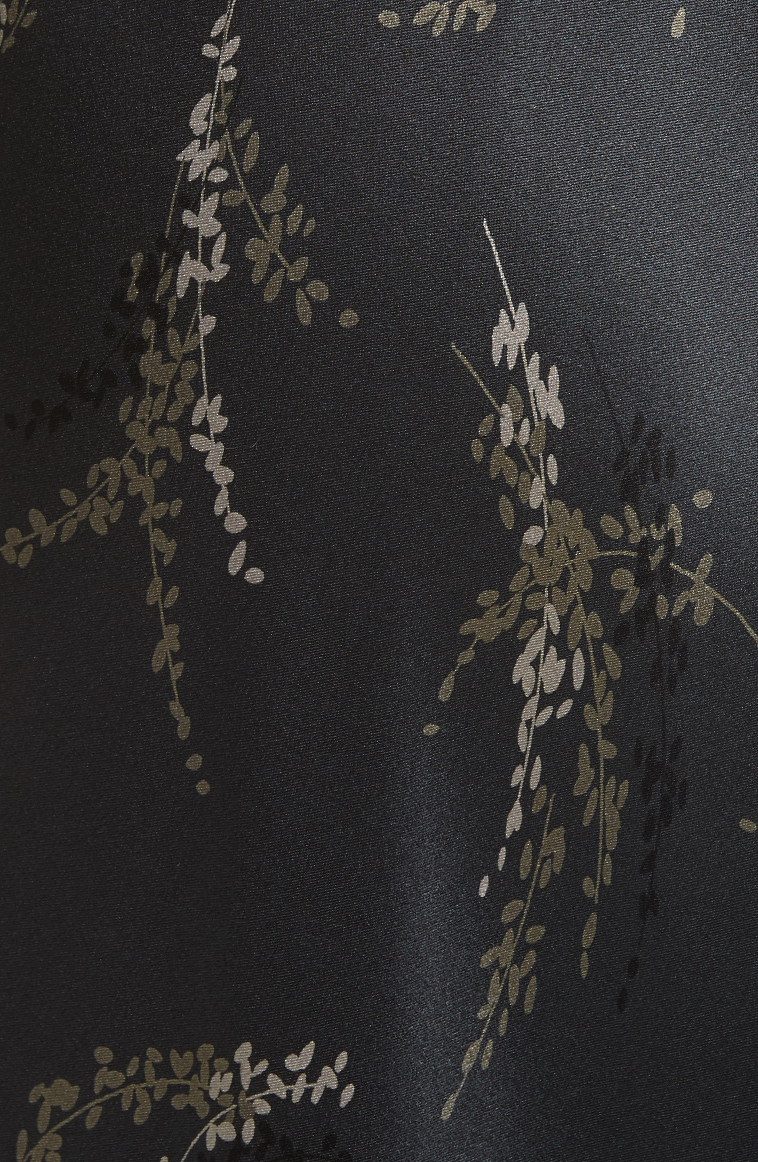 Spring Floral Faux Wrap Silk Dress,                             Alternate thumbnail 5, color,                             021