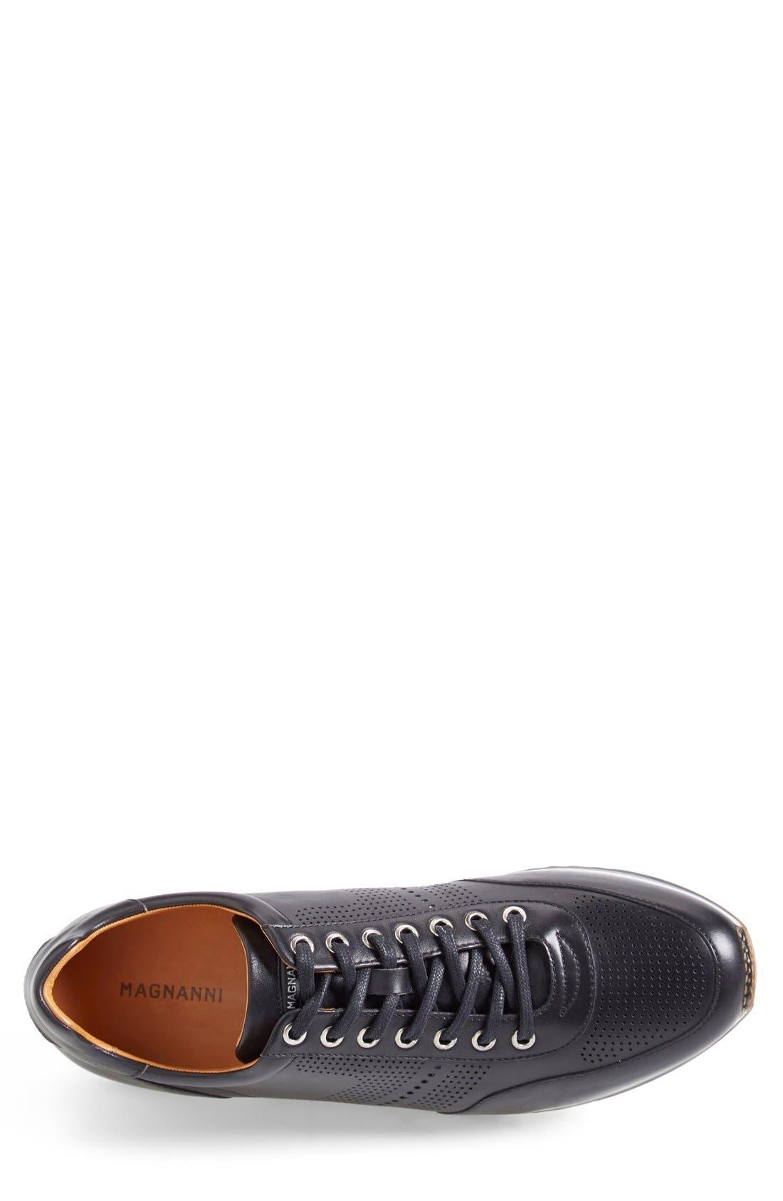 'Pueblo' Sneaker,                             Alternate thumbnail 2, color,                             BLACK LEATHER