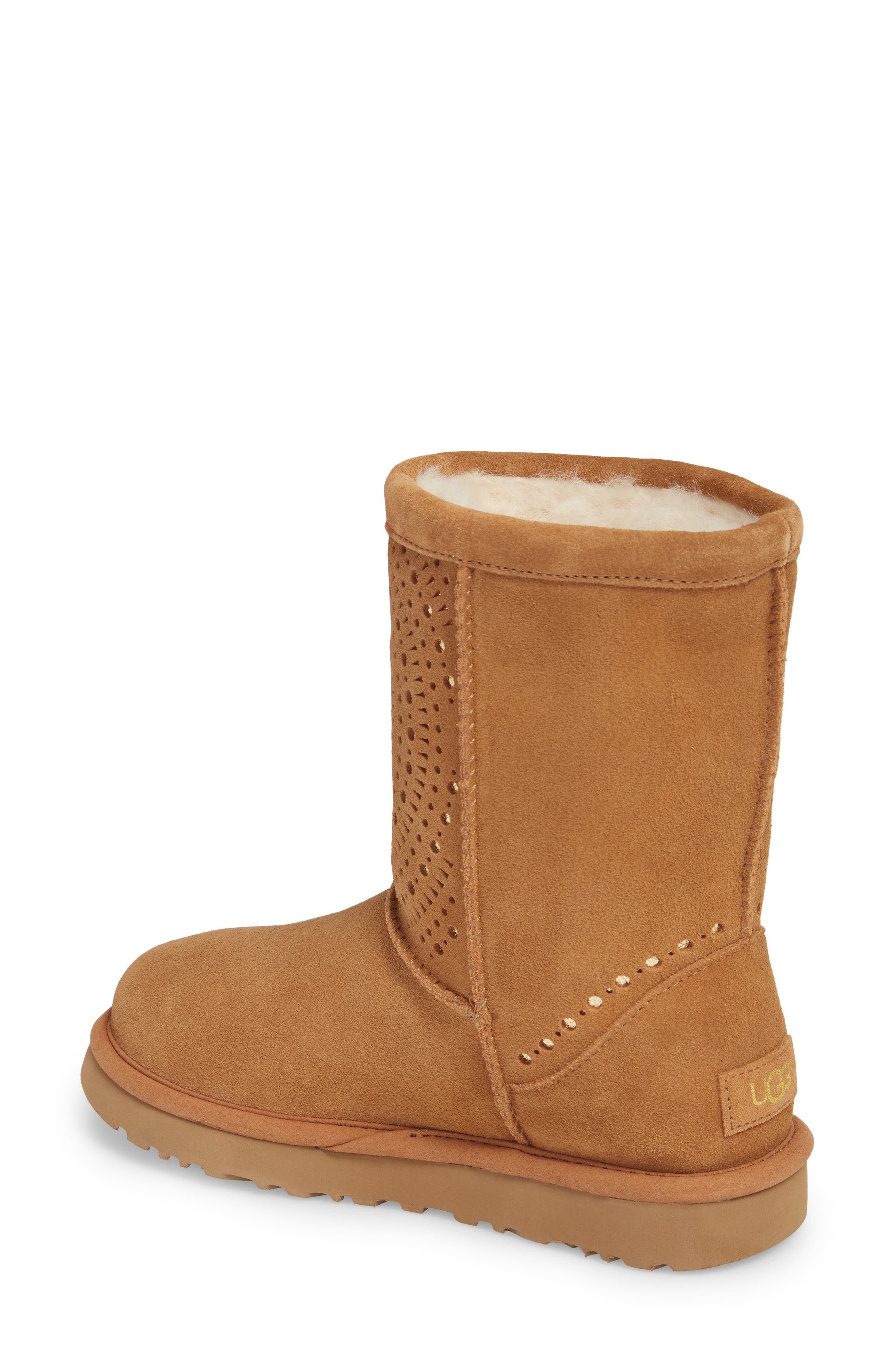Classic Short Sunshine Perforated Boot,                             Alternate thumbnail 5, color,