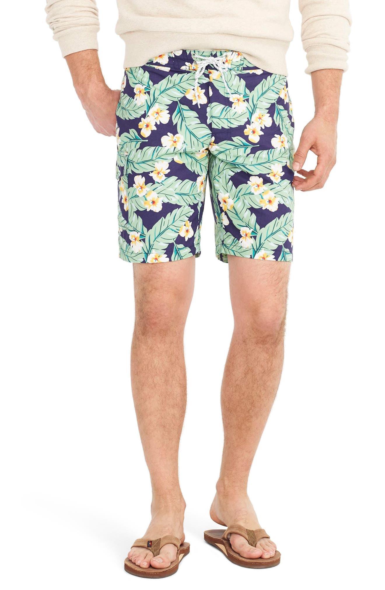 Jungle Fern Print Swim Trunks,                         Main,                         color, 410