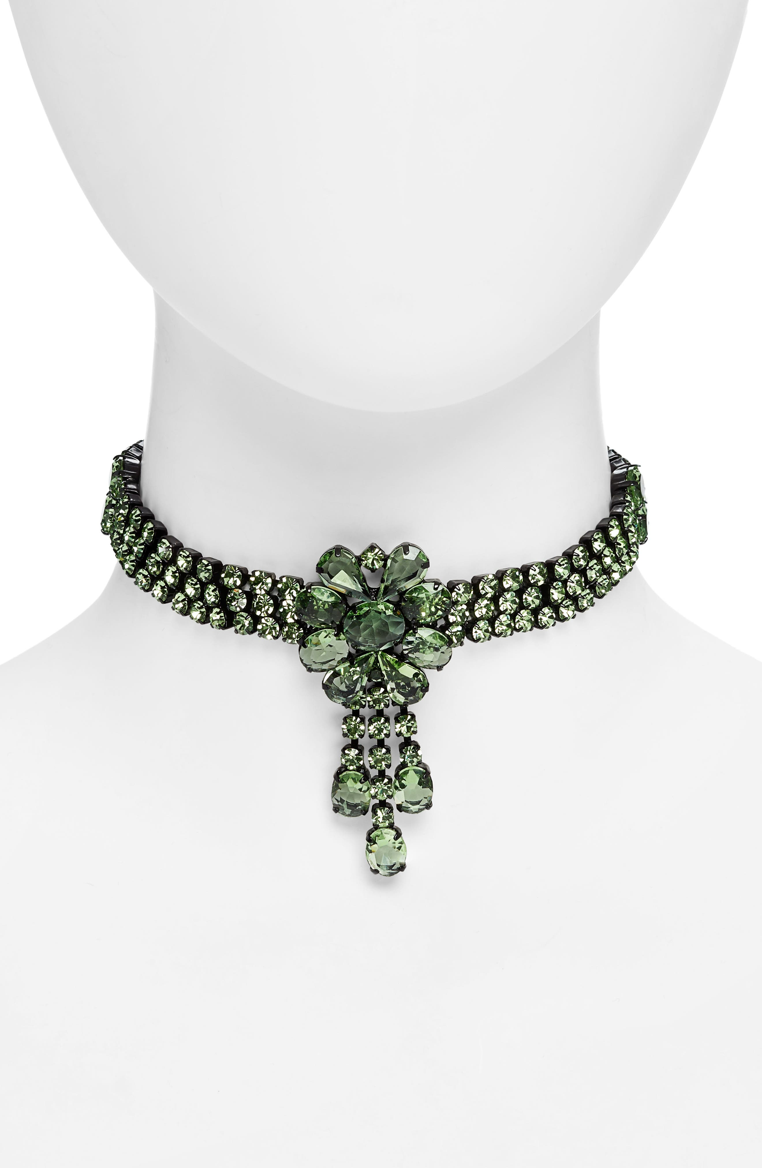 Elizabeth Necklace,                             Main thumbnail 1, color,                             GREEN