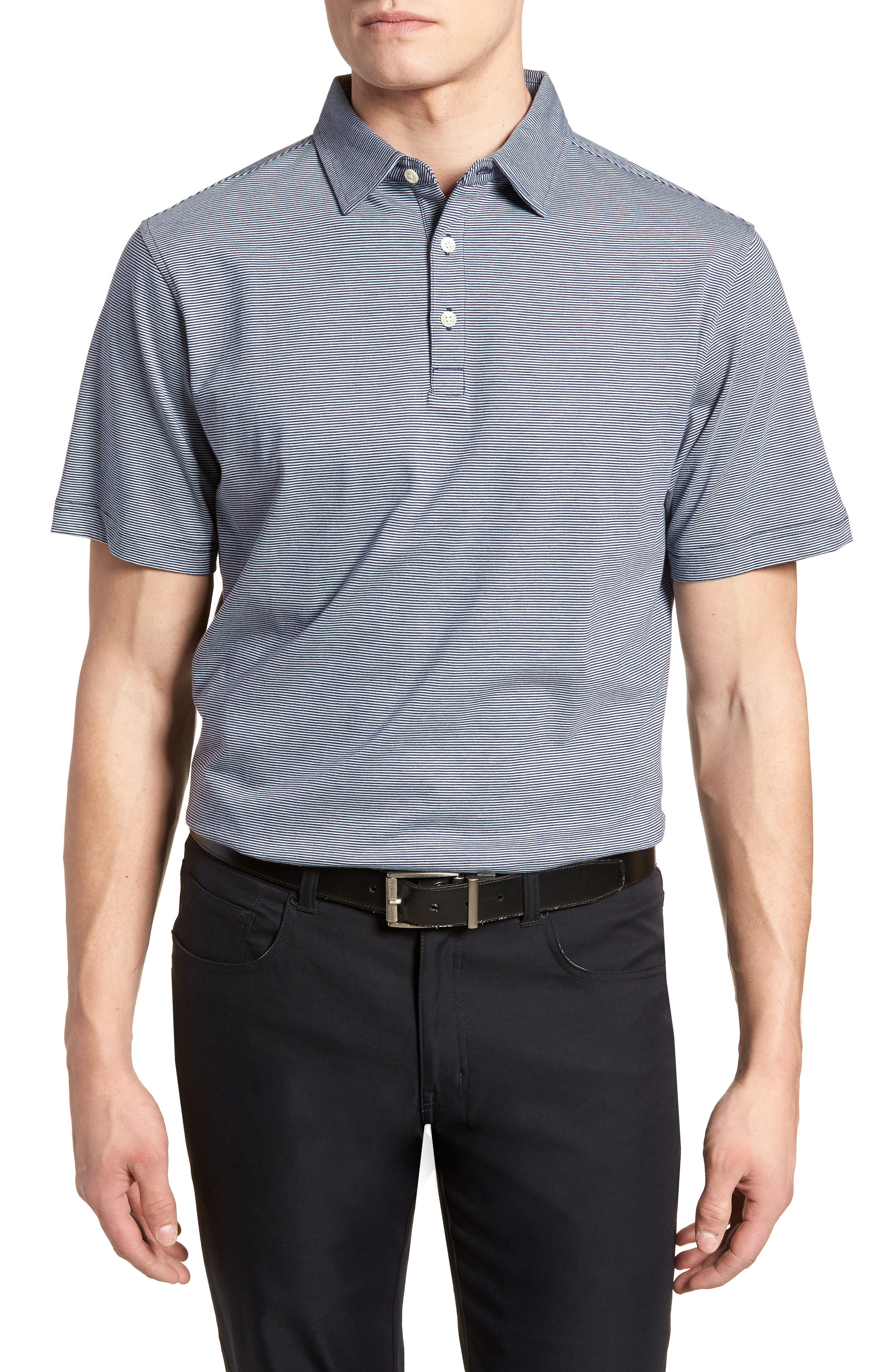 Crown Stripe Polo,                         Main,                         color, 400