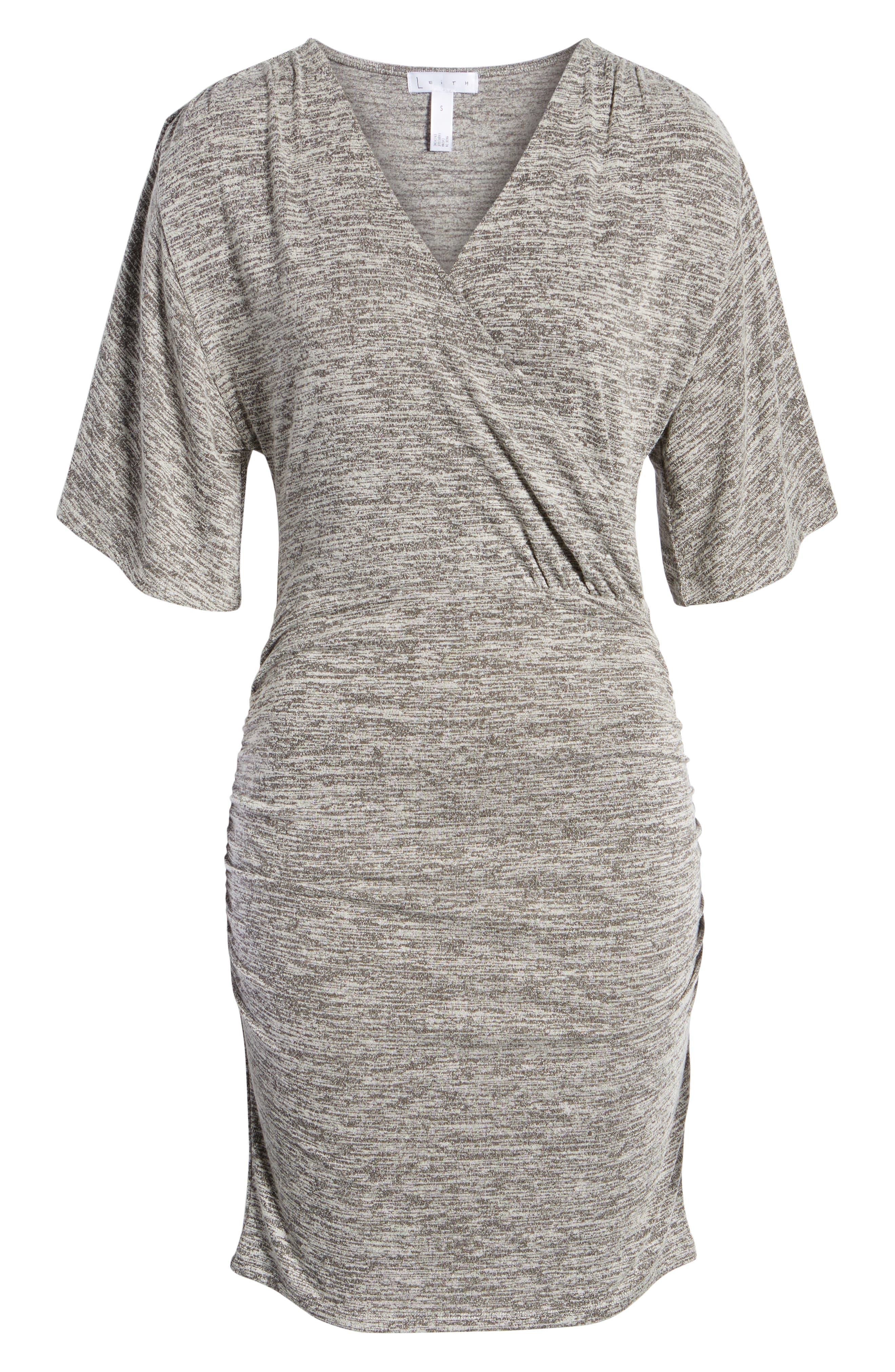 Wrap Dress,                             Alternate thumbnail 7, color,                             GREY CLOUDY HEATHER
