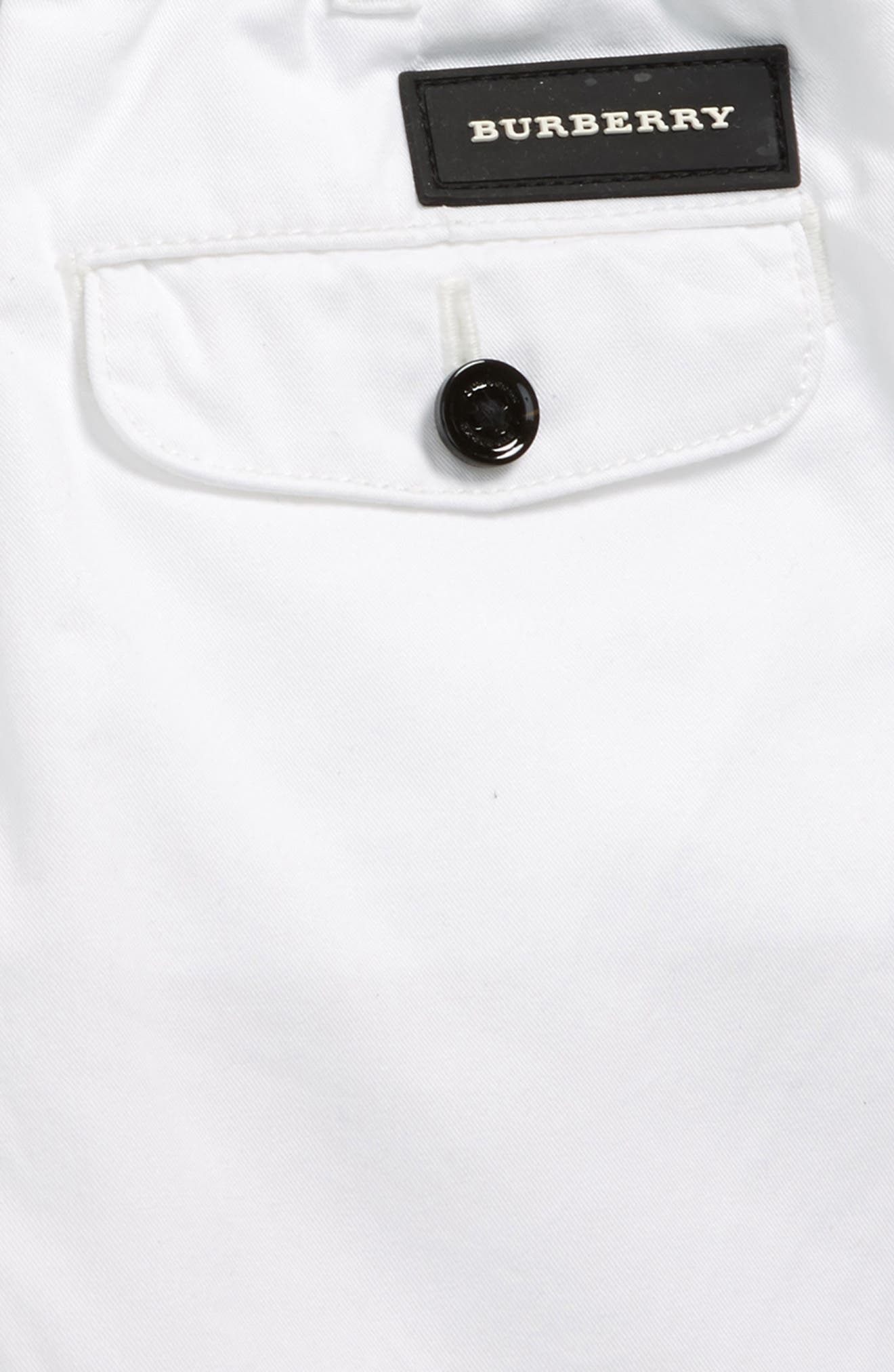 Sean Twill Shorts,                             Alternate thumbnail 3, color,                             WHITE