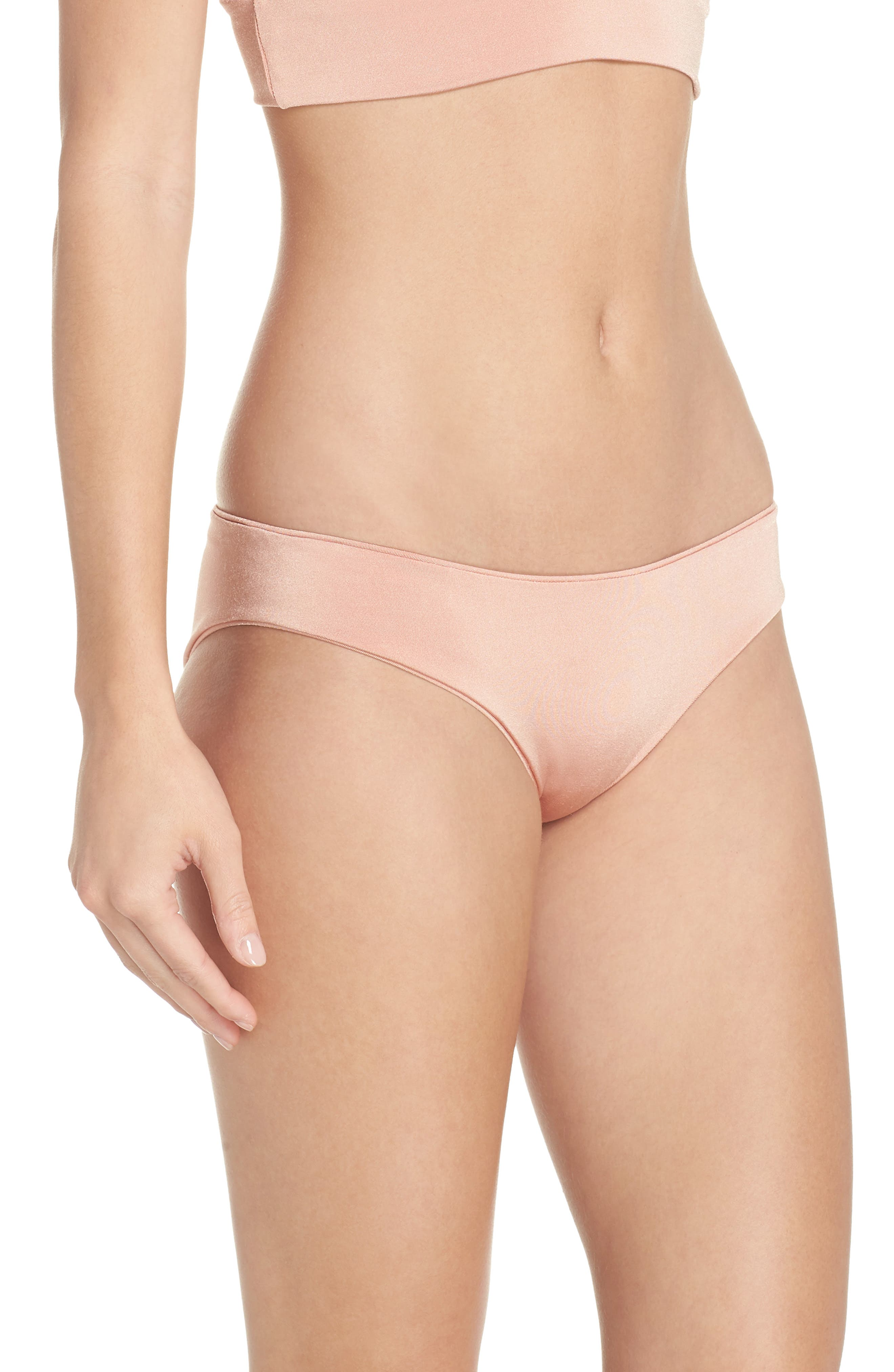 Charlie Bikini Bottoms,                             Alternate thumbnail 3, color,                             BLUSH & BASHFUL