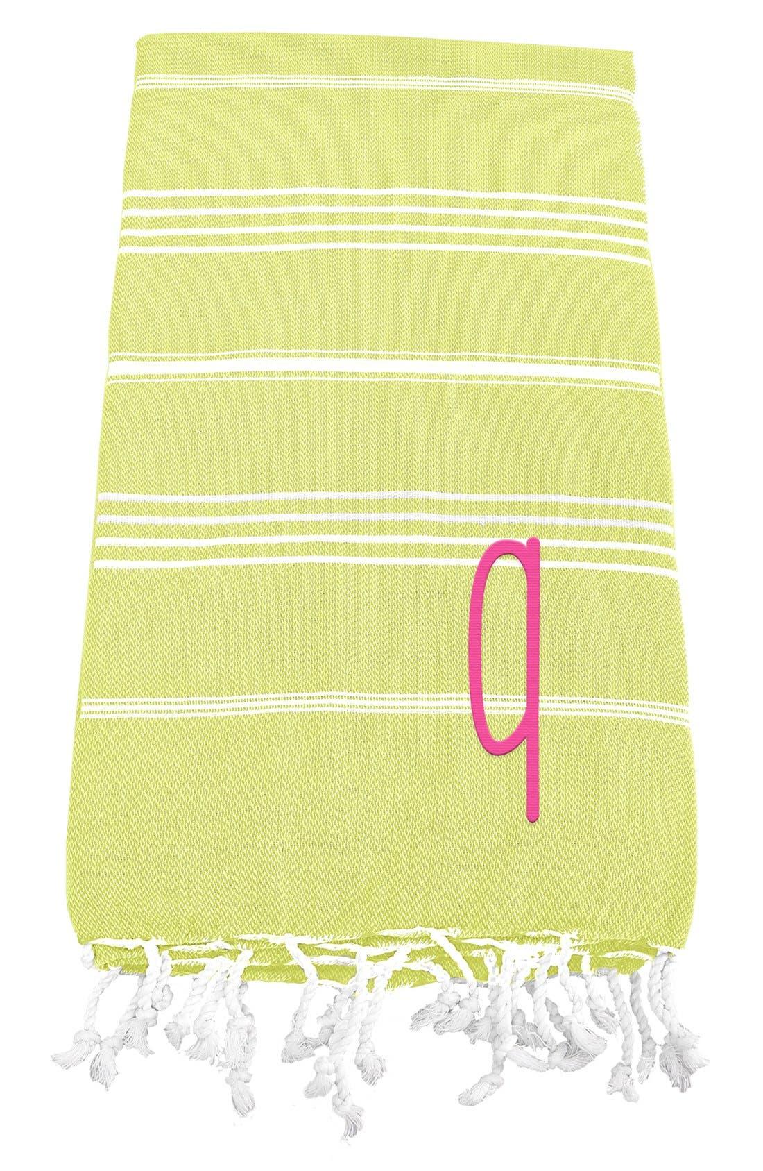 Monogram Turkish Cotton Towel,                             Main thumbnail 46, color,